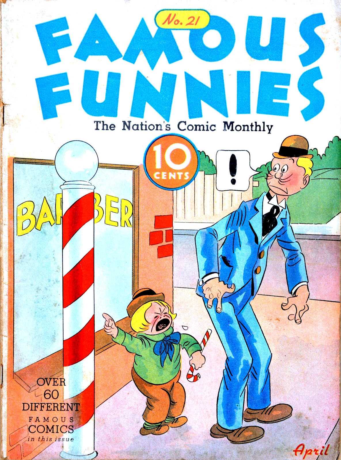 Read online Famous Funnies comic -  Issue #21 - 1