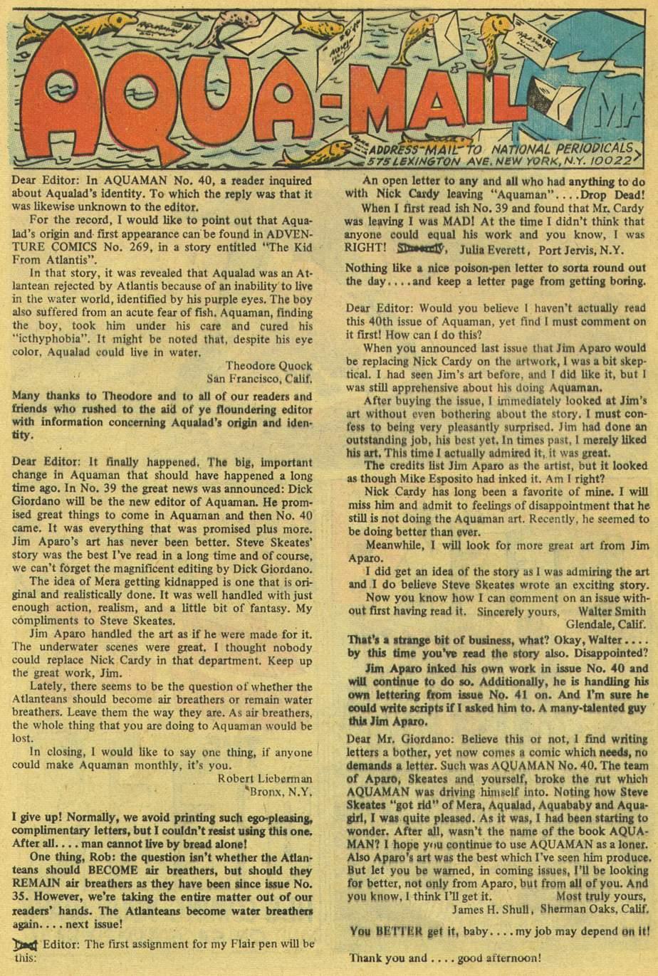 Read online Aquaman (1962) comic -  Issue #42 - 32