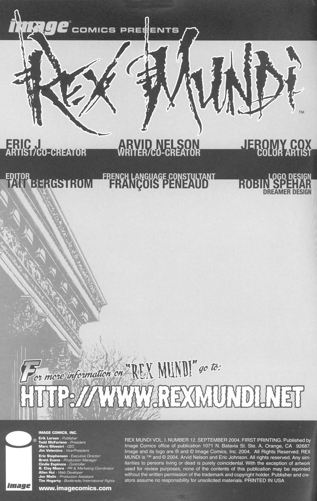 Read online Rex Mundi comic -  Issue #12 - 2