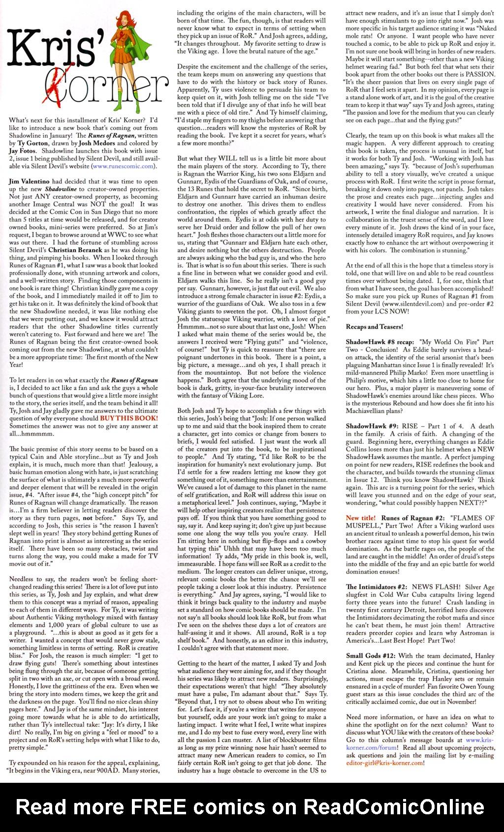 Read online ShadowHawk (2005) comic -  Issue #8 - 28