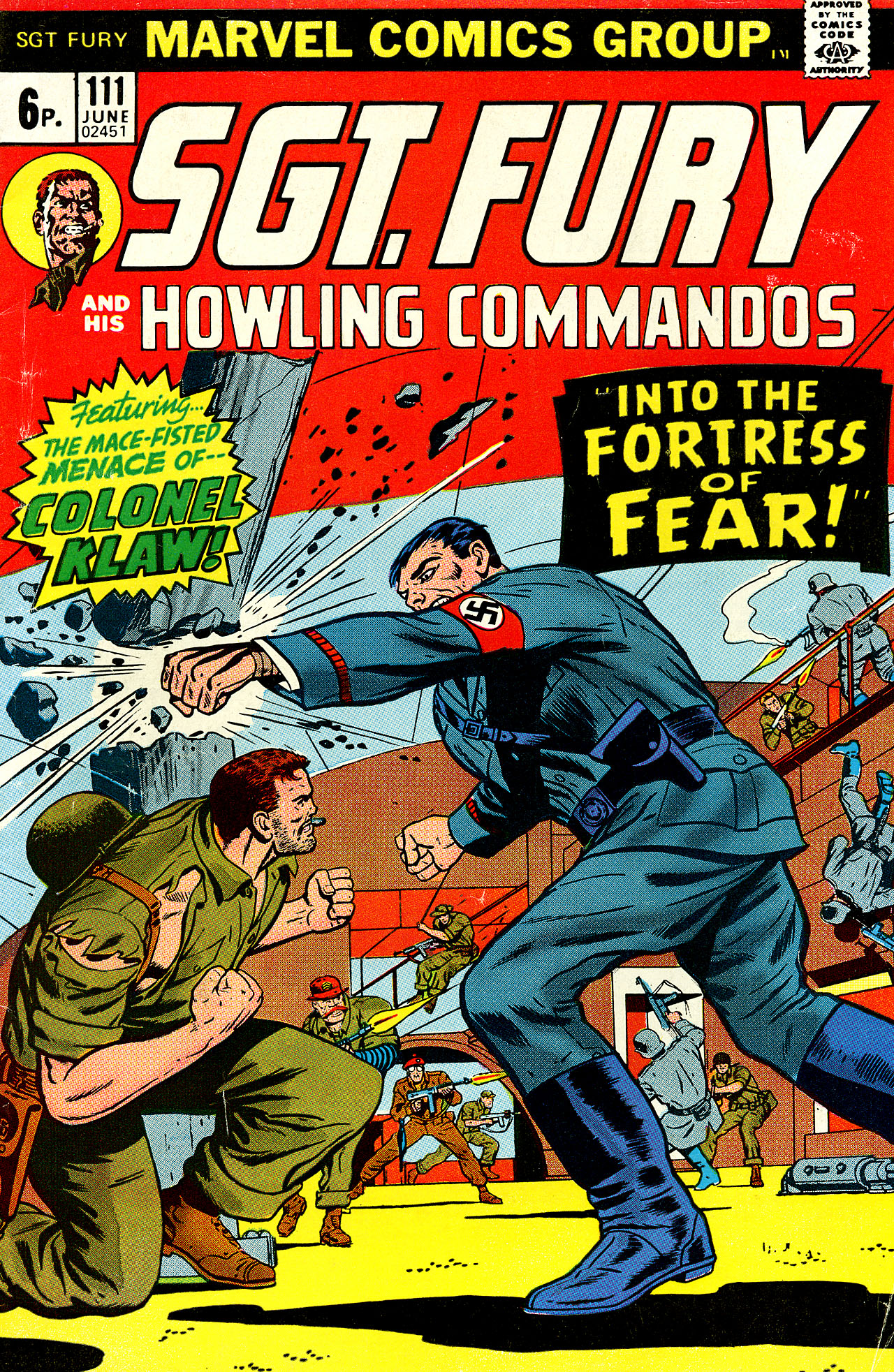 Read online Sgt. Fury comic -  Issue #111 - 1