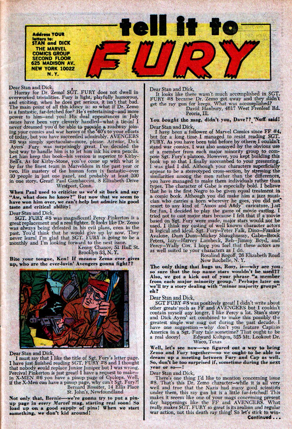 Read online Sgt. Fury comic -  Issue #11 - 31
