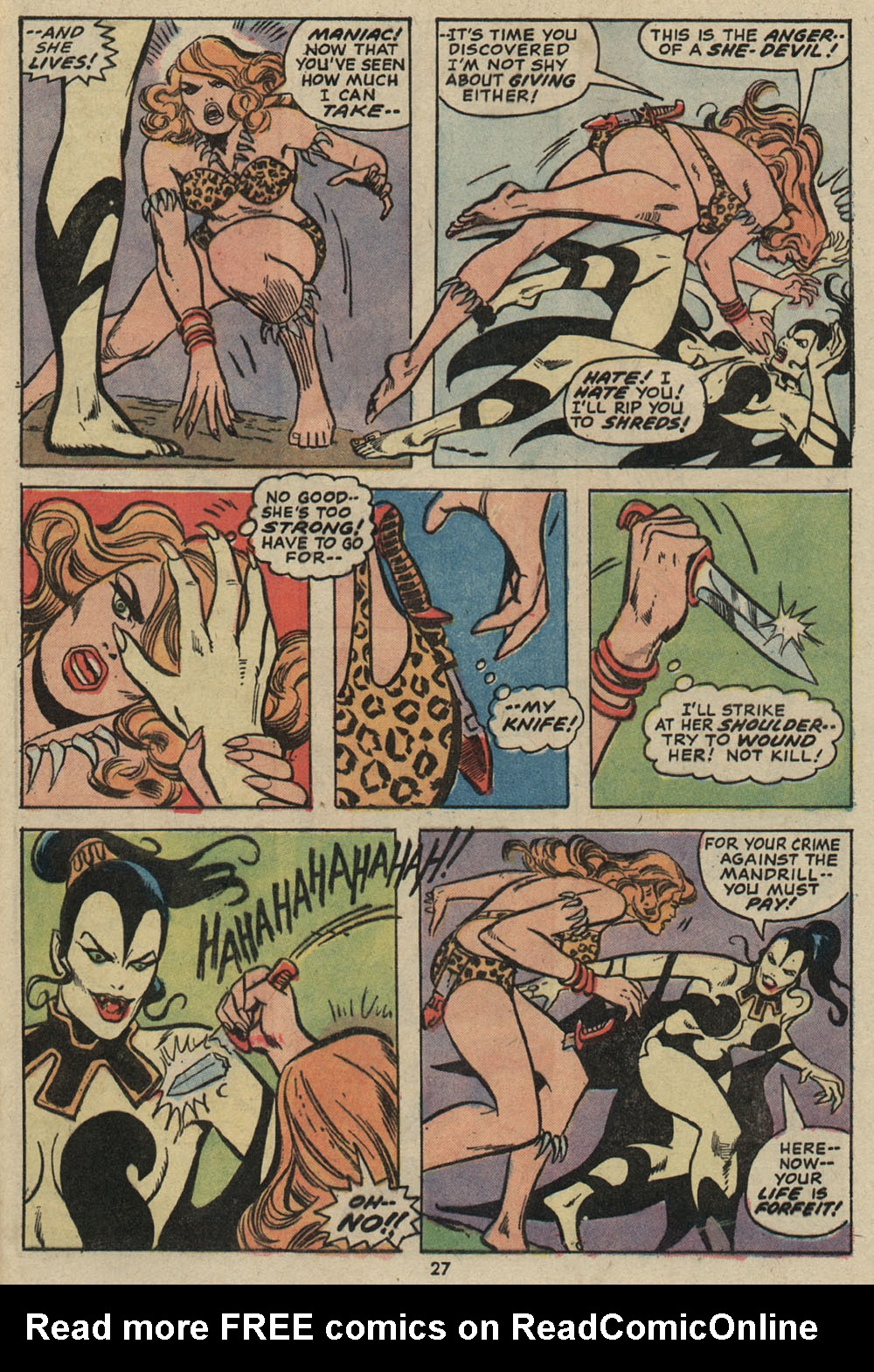Read online Shanna, the She-Devil (1972) comic -  Issue #5 - 19