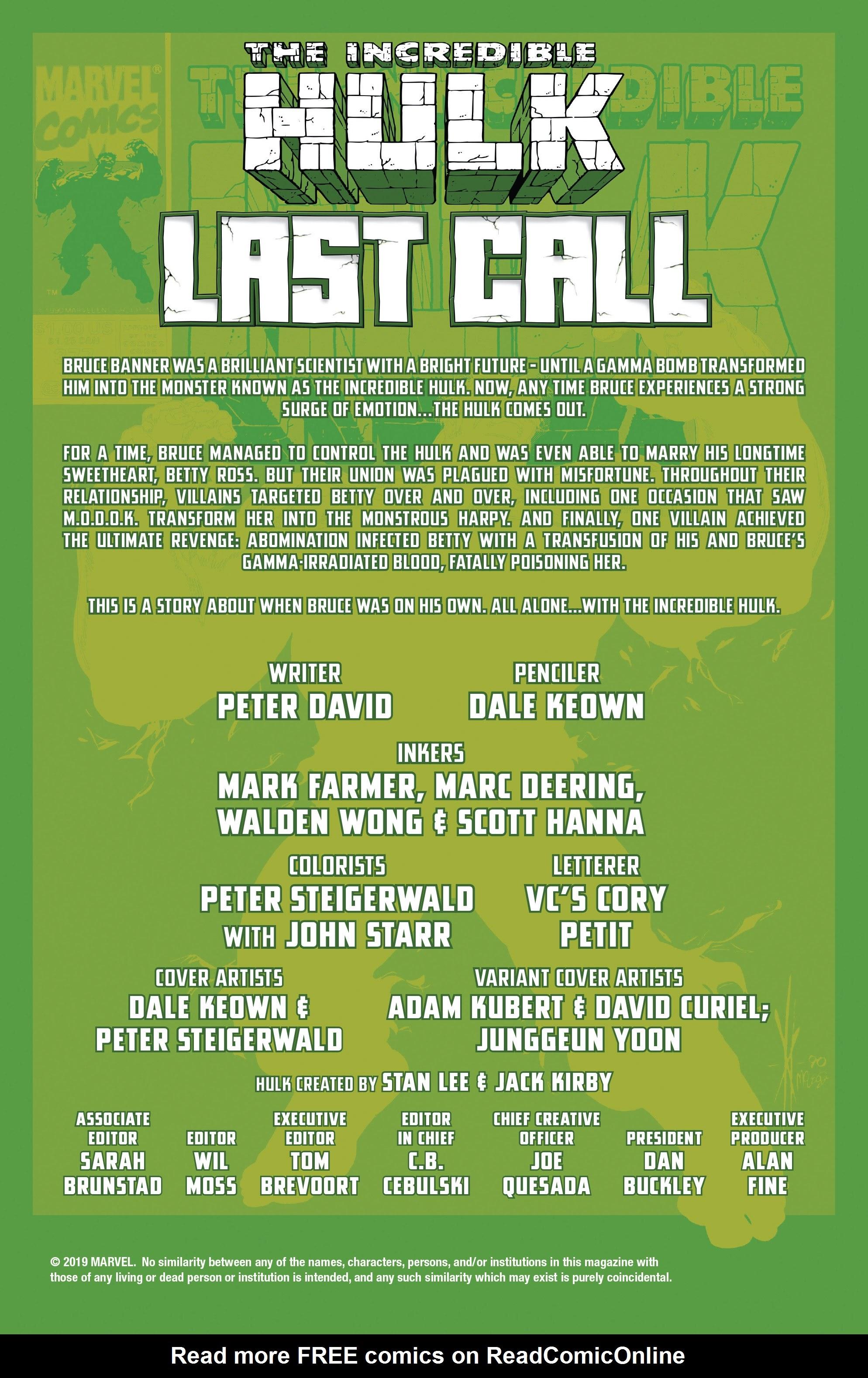 Incredible Hulk: Last Call Full Page 2