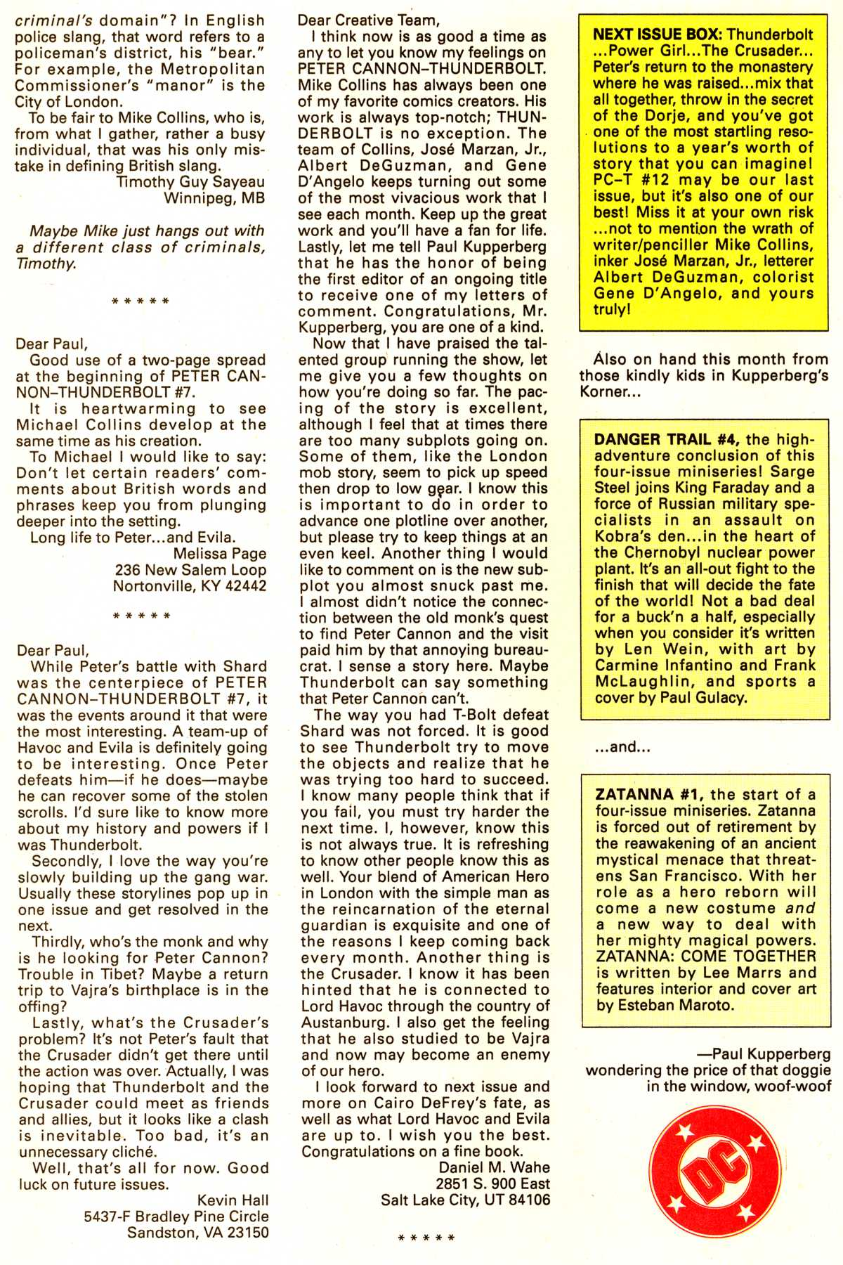 Read online Peter Cannon--Thunderbolt (1992) comic -  Issue #11 - 25