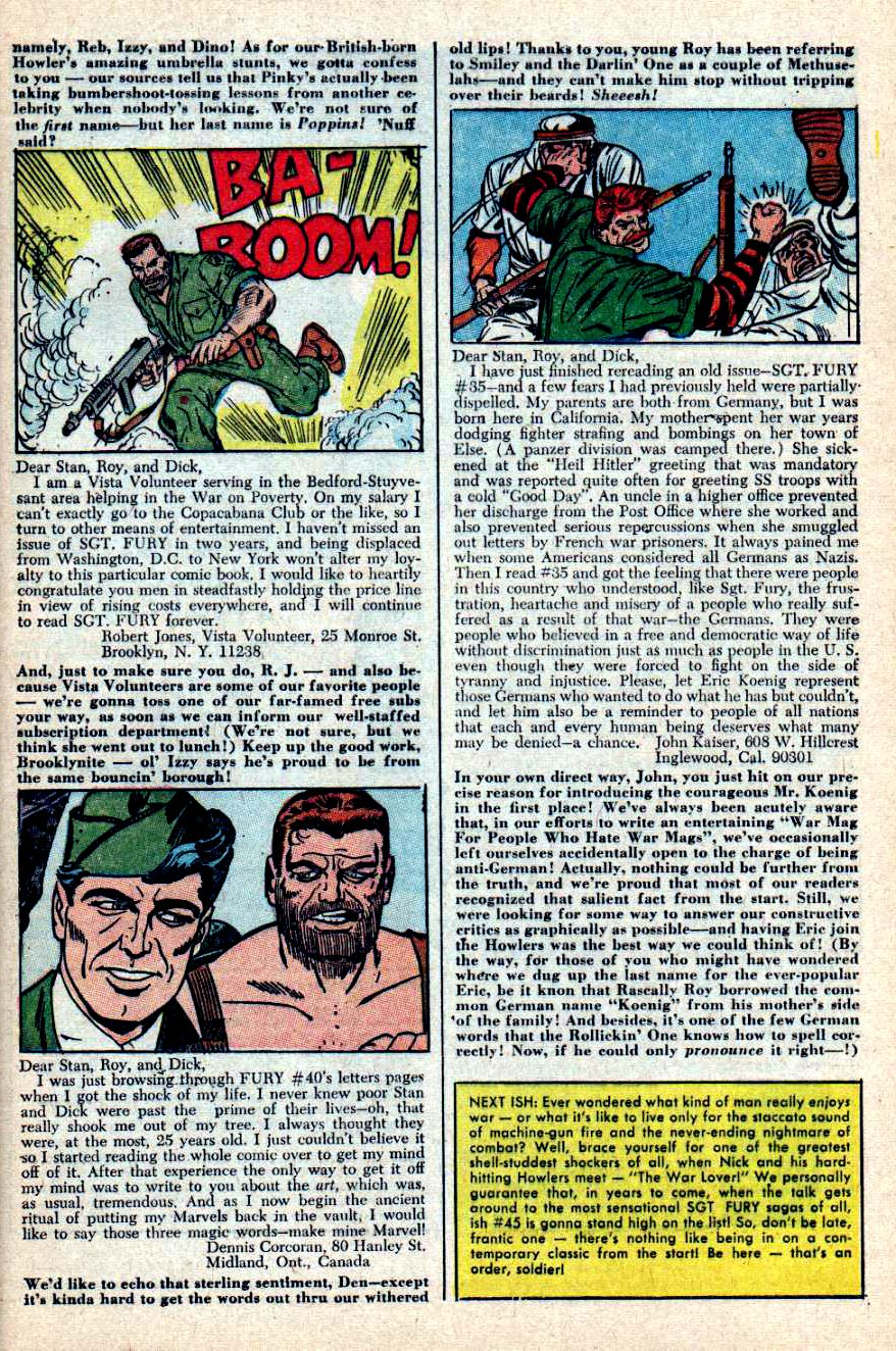 Read online Sgt. Fury comic -  Issue #44 - 33