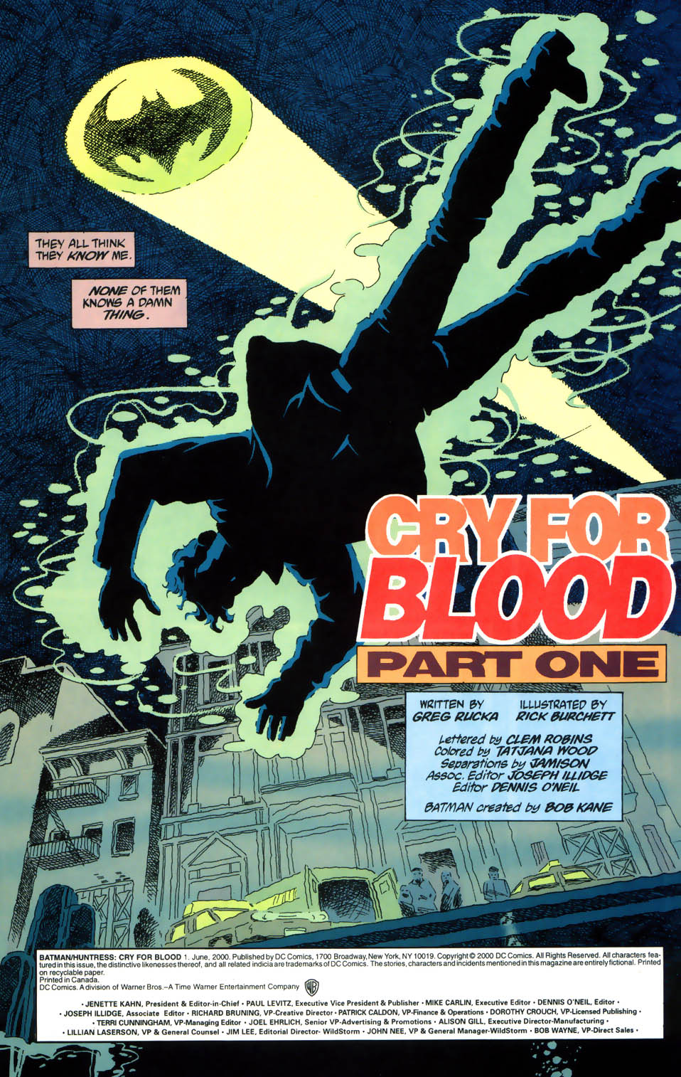 Read online Batman/Huntress: Cry for Blood comic -  Issue #1 - 2