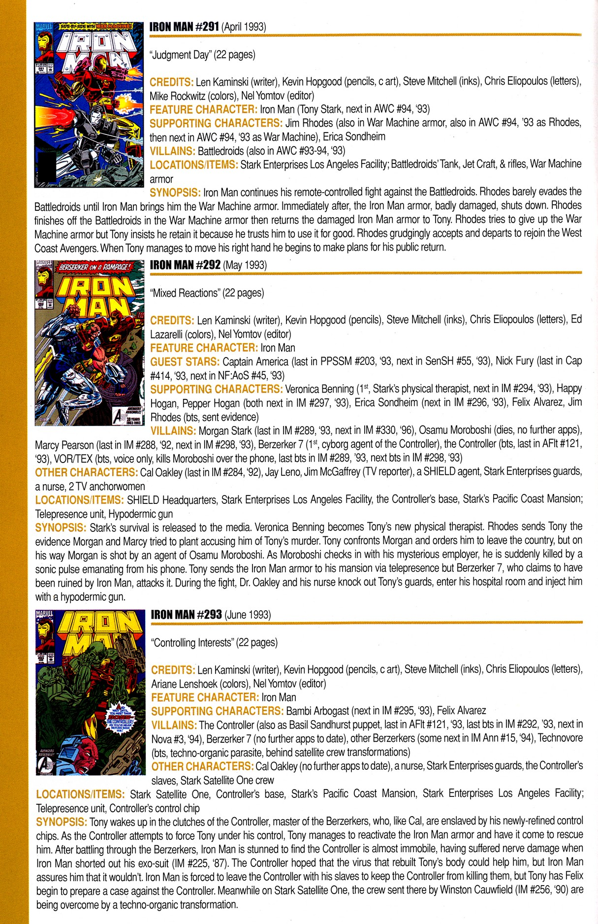 Read online Official Index to the Marvel Universe comic -  Issue #8 - 42