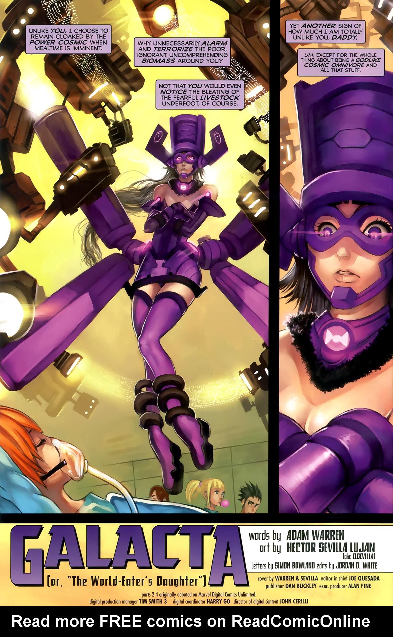 Read online Galacta: Daughter of Galactus comic -  Issue # Full - 5