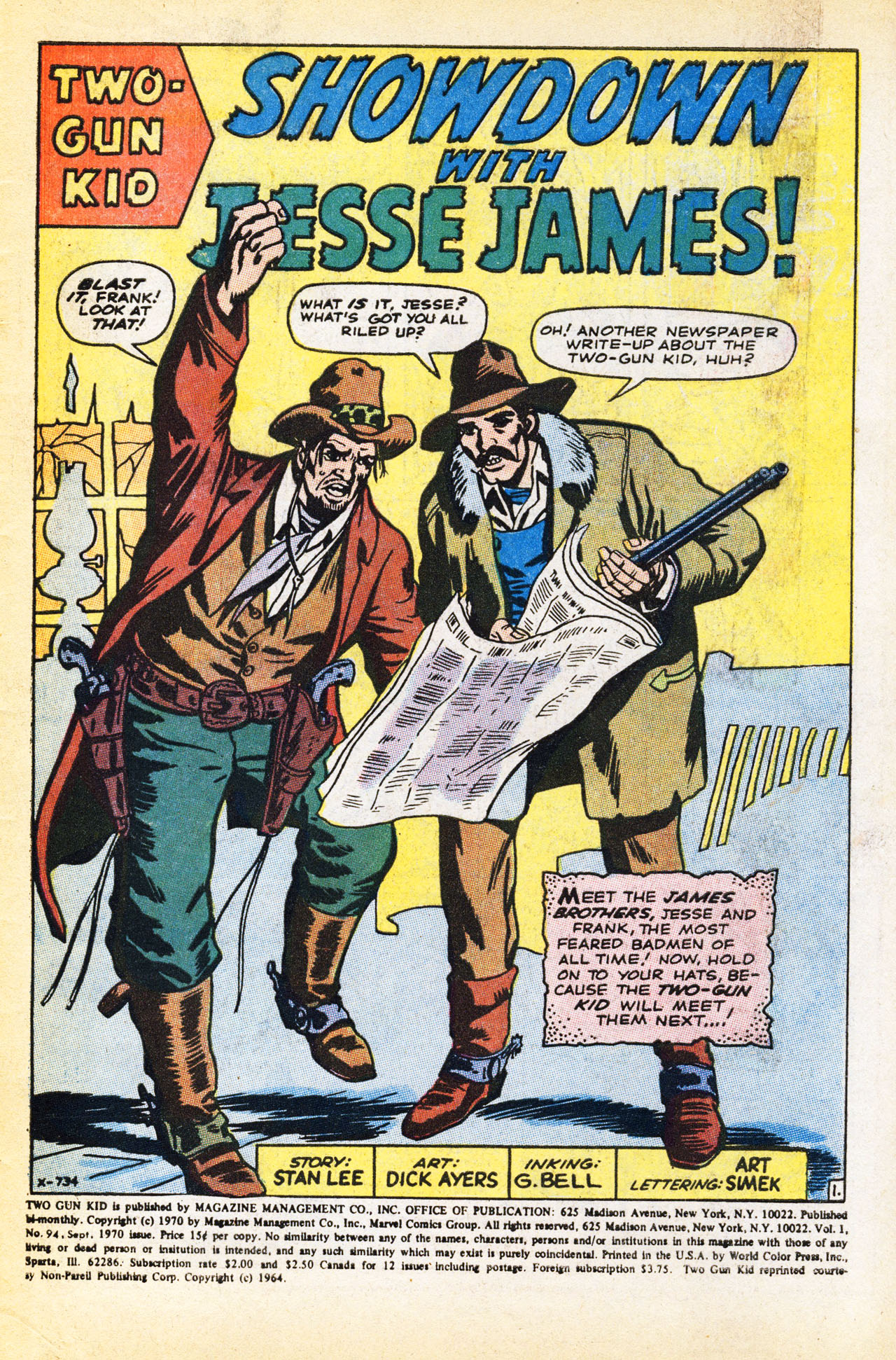 Read online Two-Gun Kid comic -  Issue #94 - 3