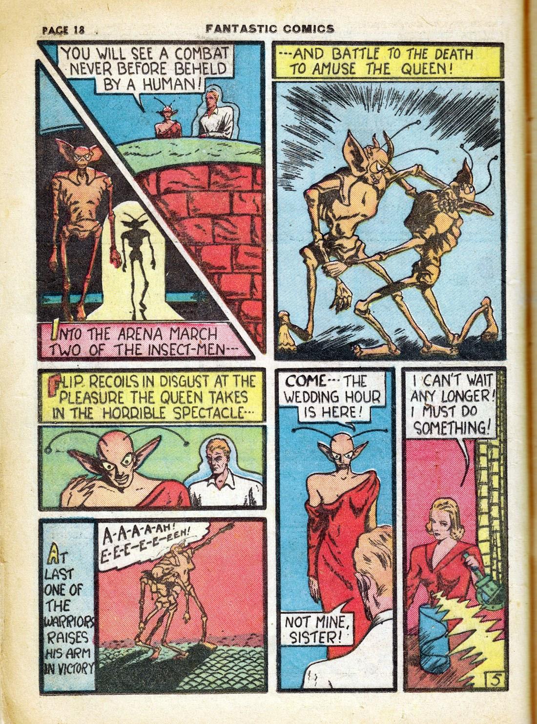 Read online Fantastic Comics comic -  Issue #7 - 20