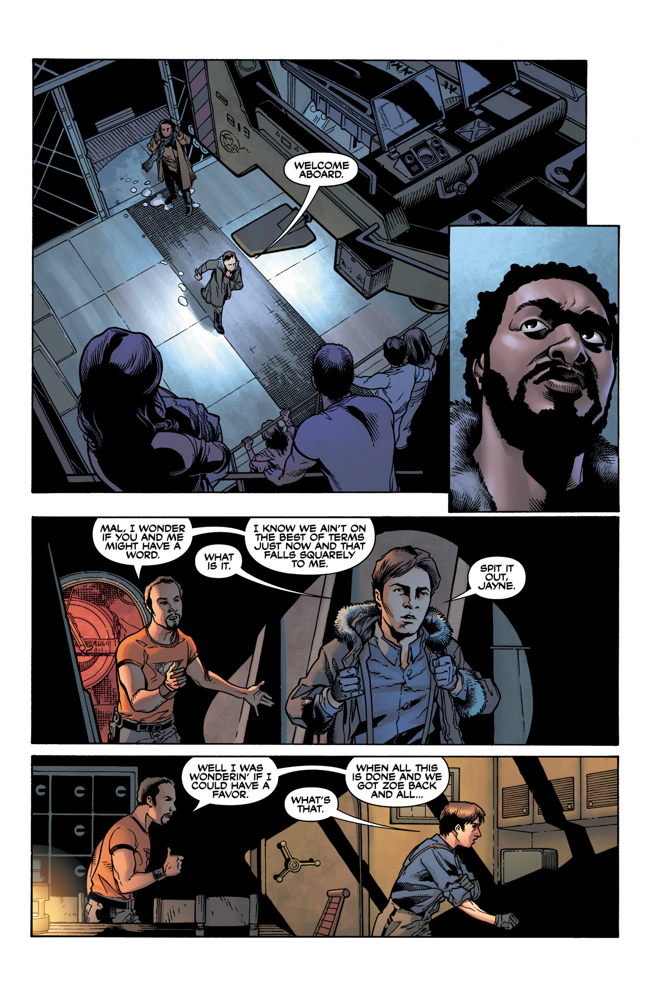 Read online Serenity: Firefly Class 03-K64  Leaves on the Wind comic -  Issue #4 - 4