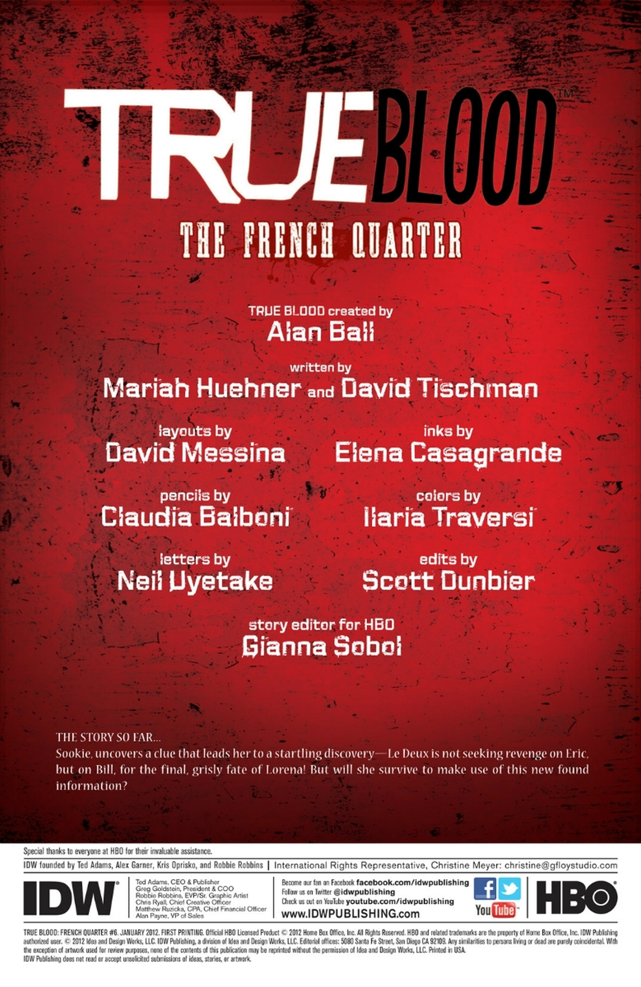 Read online True Blood: French Quarter comic -  Issue #6 - 5