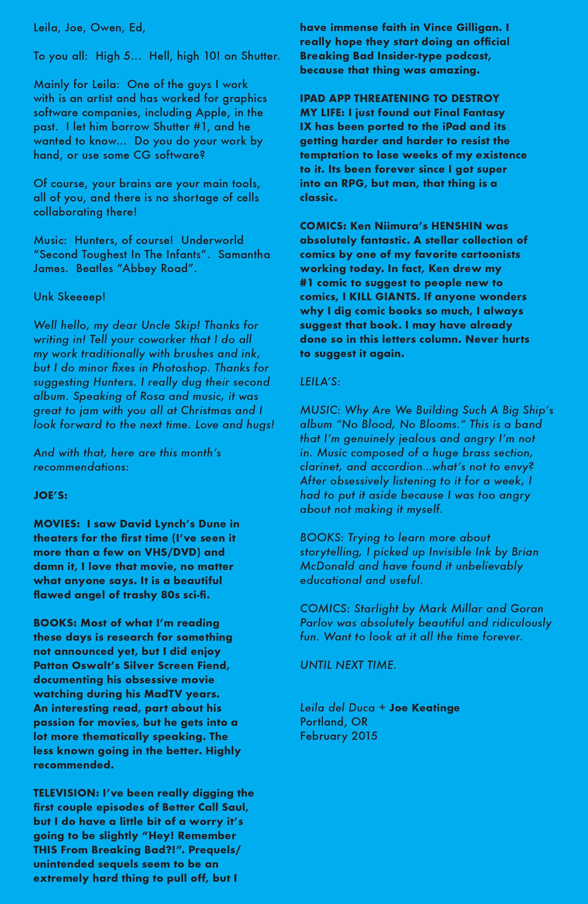 Read online Shutter comic -  Issue #10 - 24