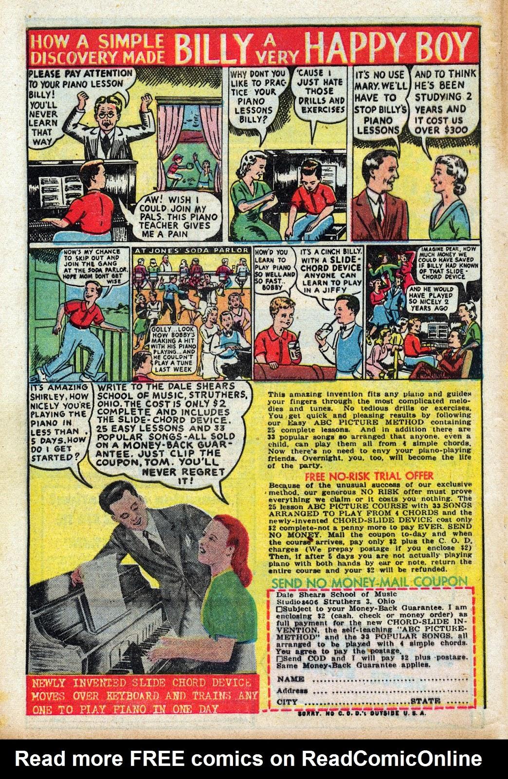Read online Comedy Comics (1948) comic -  Issue #3 - 34