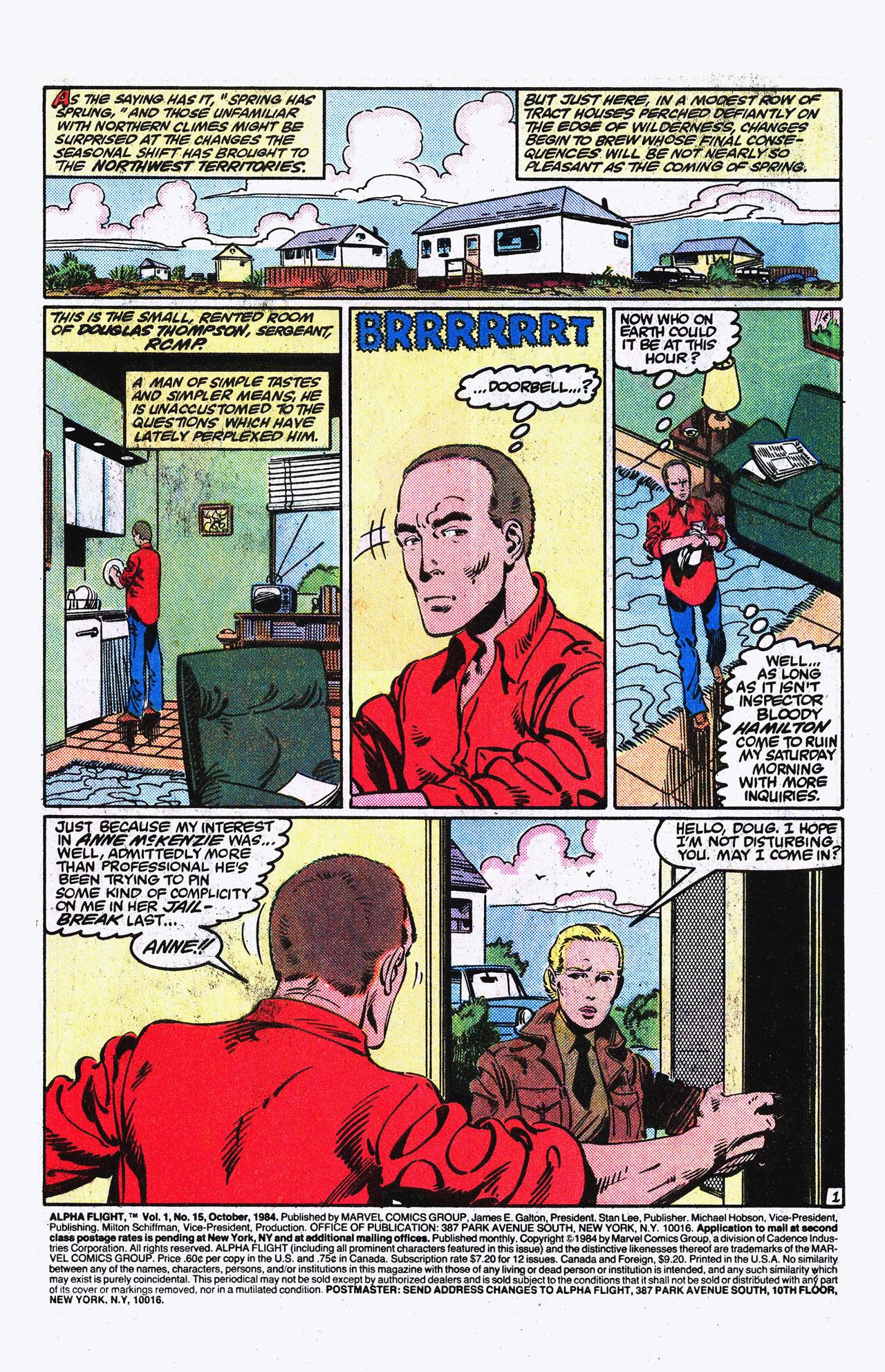 Read online Alpha Flight (1983) comic -  Issue #15 - 2