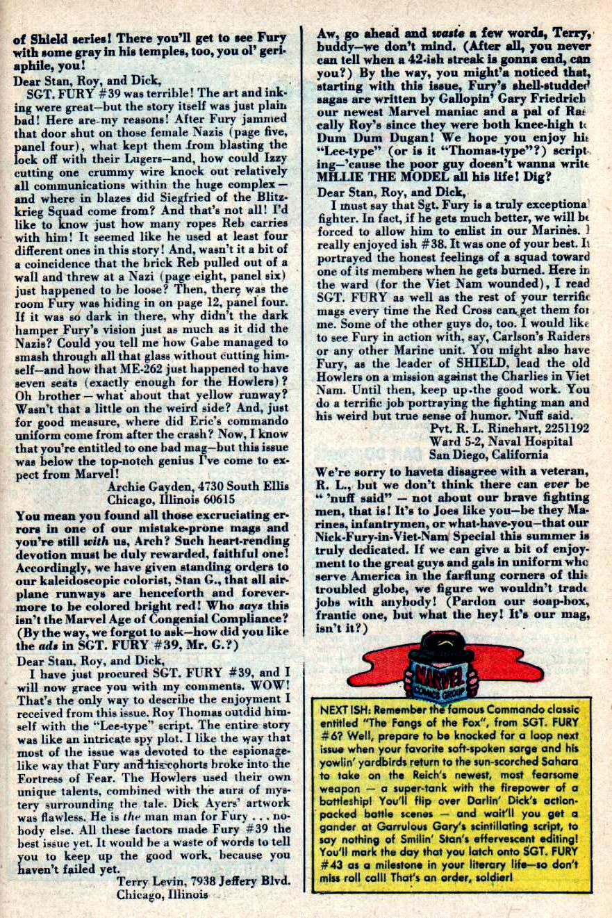 Read online Sgt. Fury comic -  Issue #42 - 33
