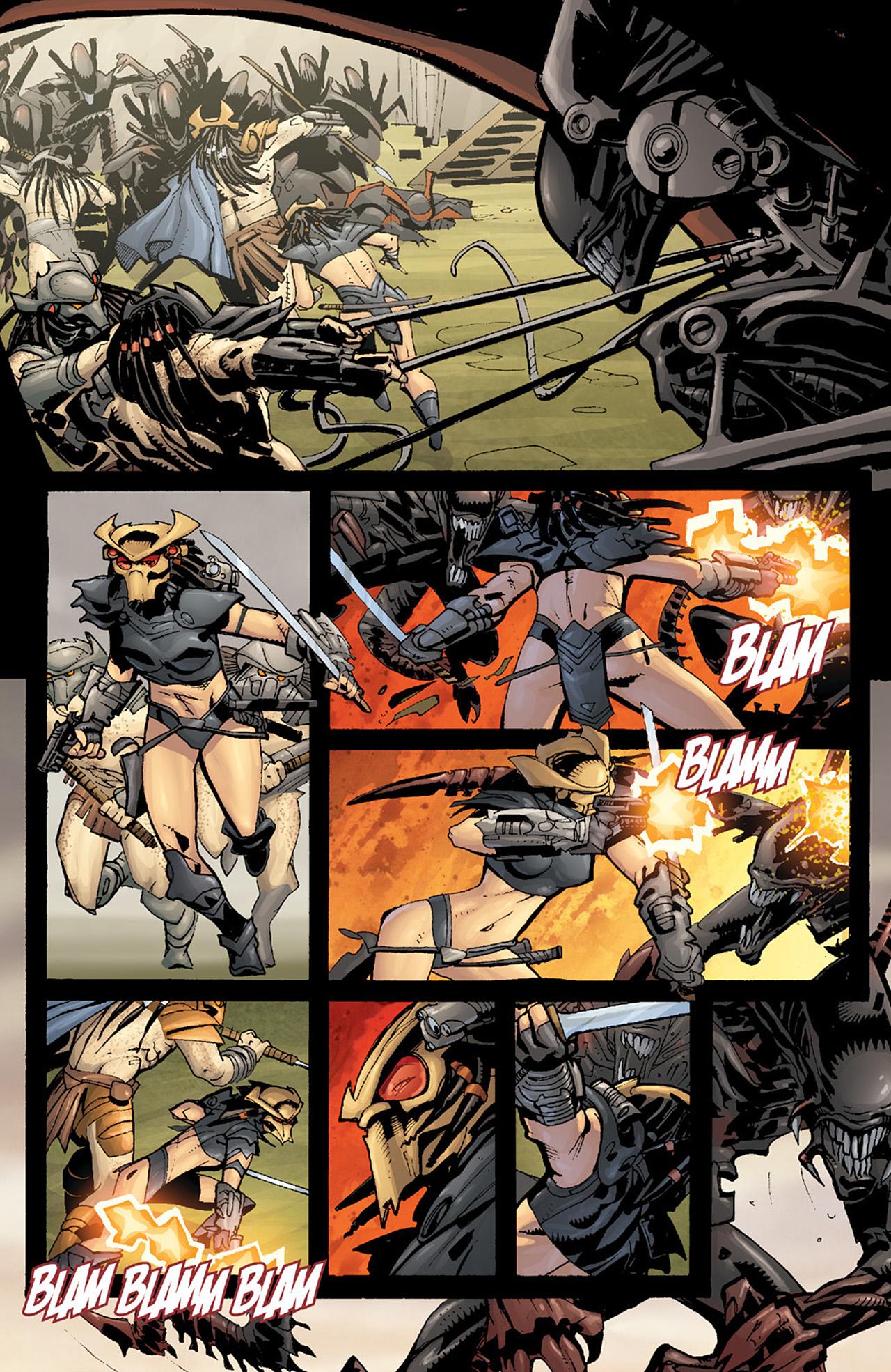 Read online Aliens vs. Predator: Three World War comic -  Issue #6 - 12