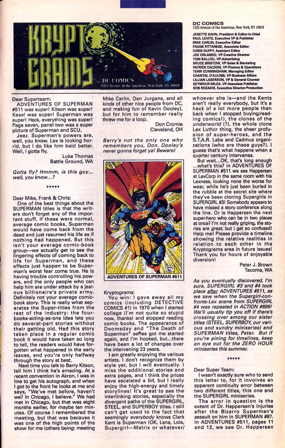 Read online Adventures of Superman (1987) comic -  Issue #515 - 25