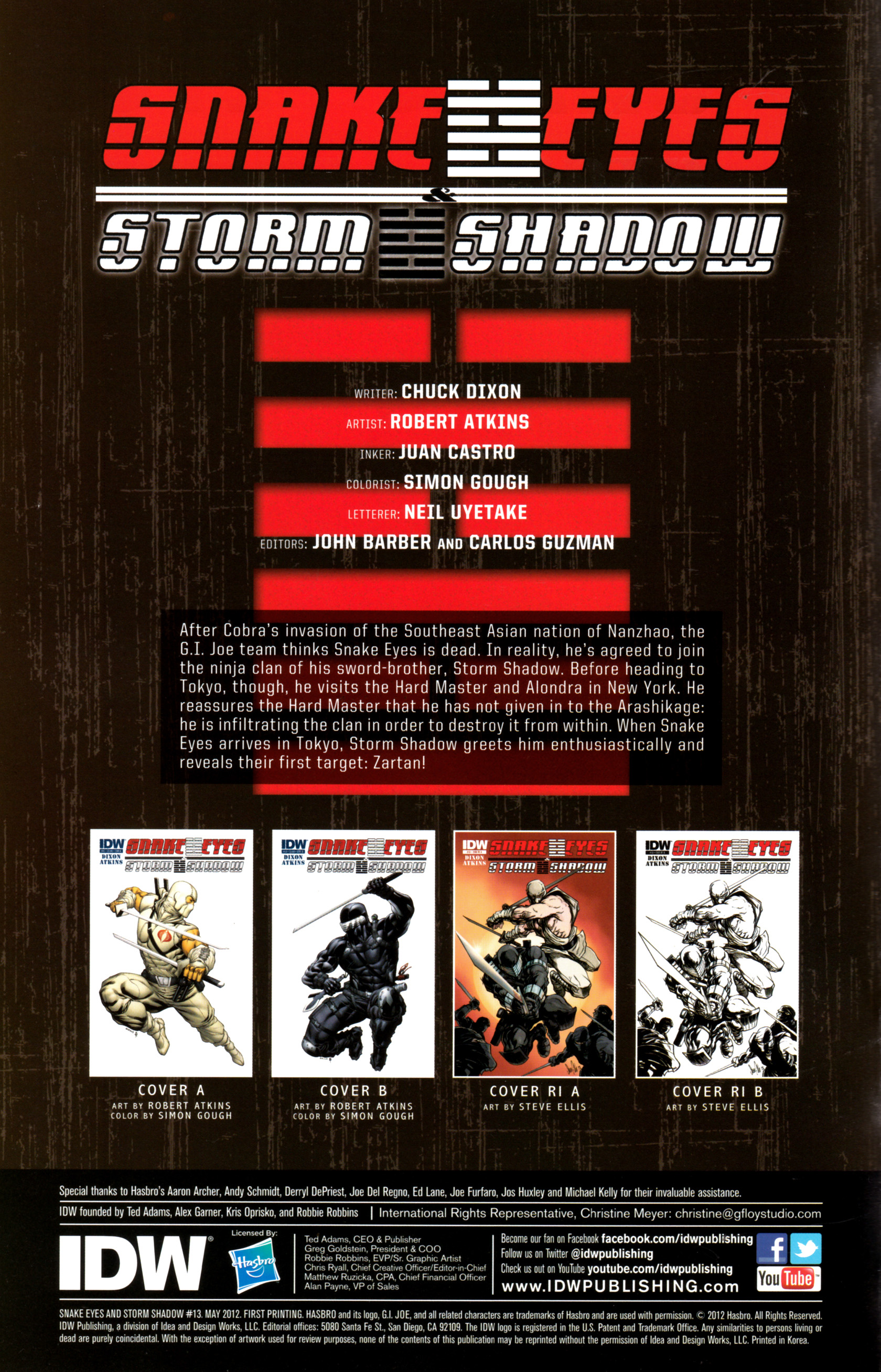 Read online Snake Eyes and Storm Shadow comic -  Issue #13 - 3