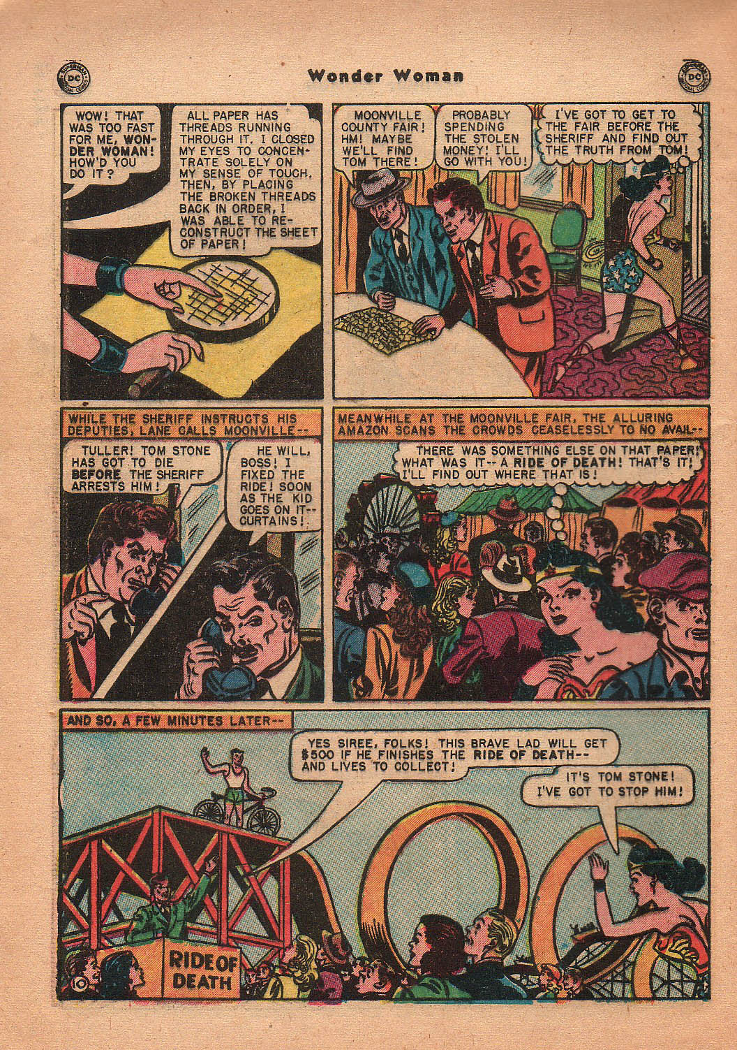 Read online Wonder Woman (1942) comic -  Issue #42 - 47