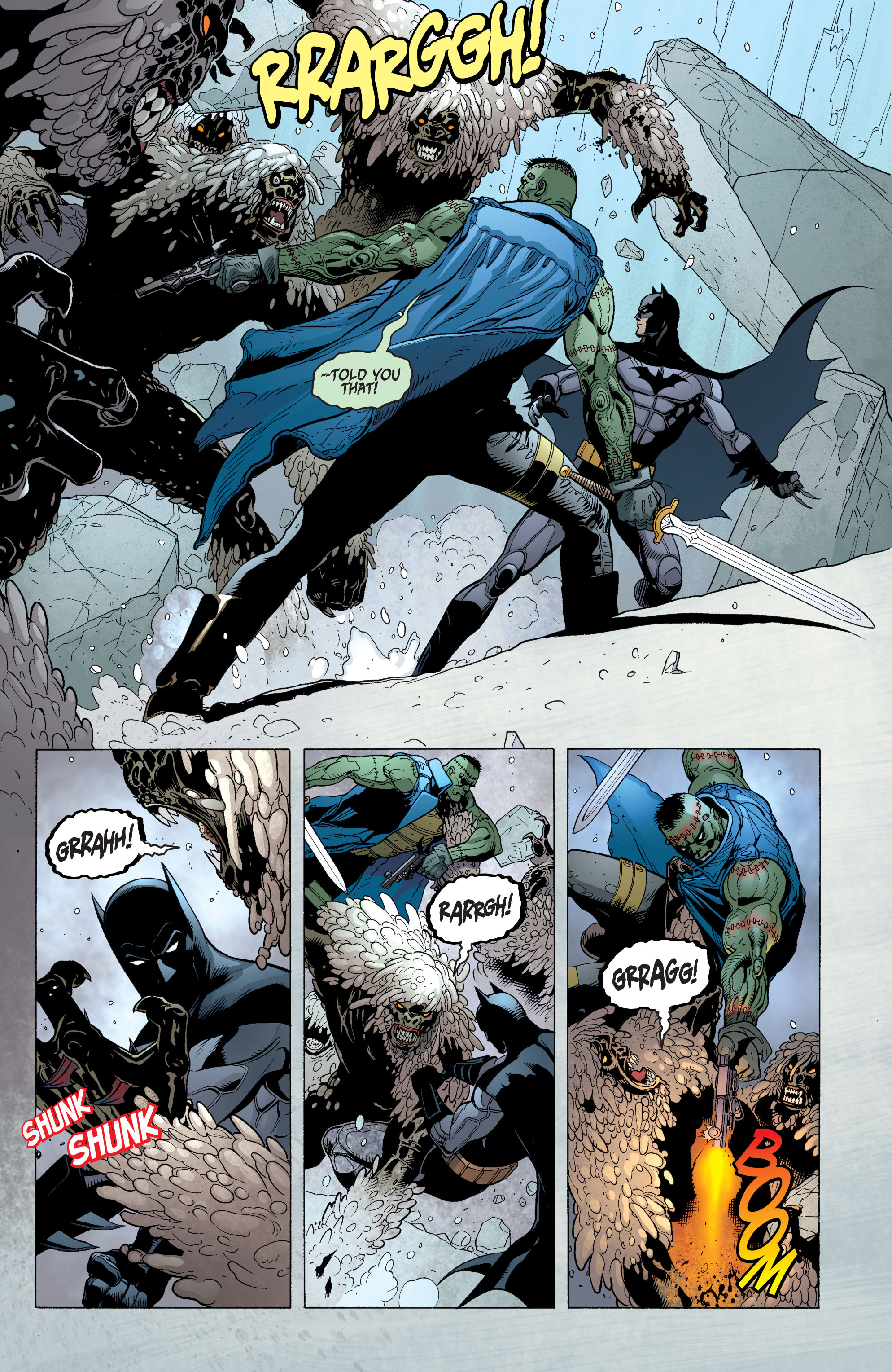 Read online Batman and Robin (2011) comic -  Issue #31 - Batman and Frankenstein - 15