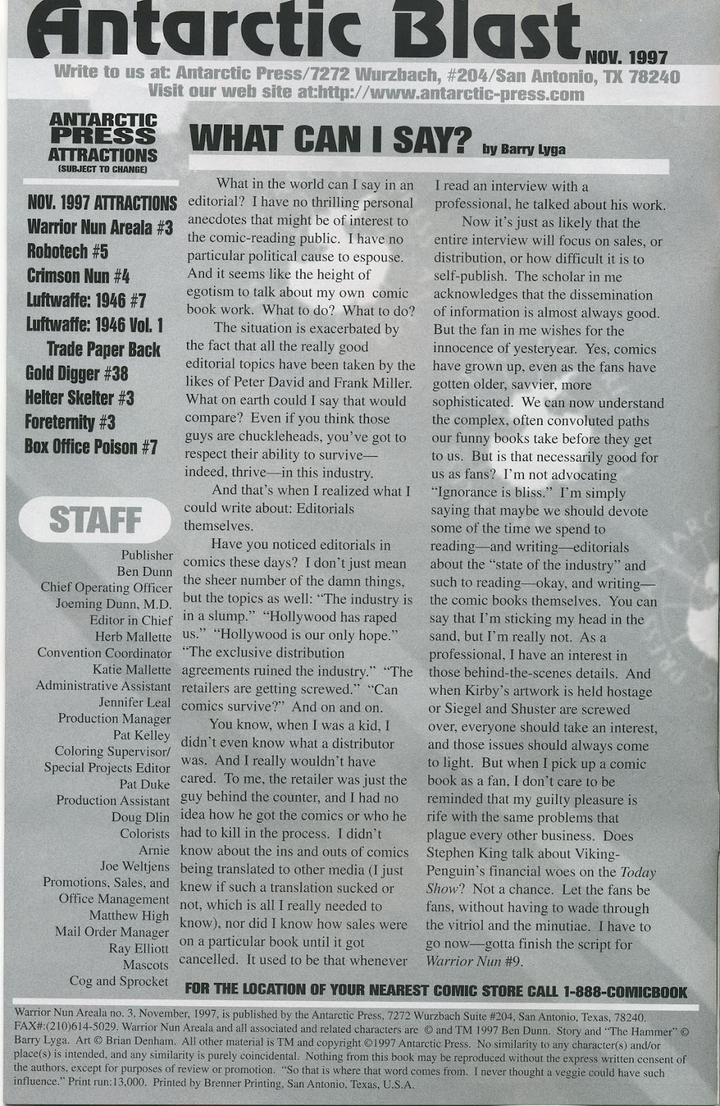 Warrior Nun Areala (1997) Issue #3 #3 - English 2