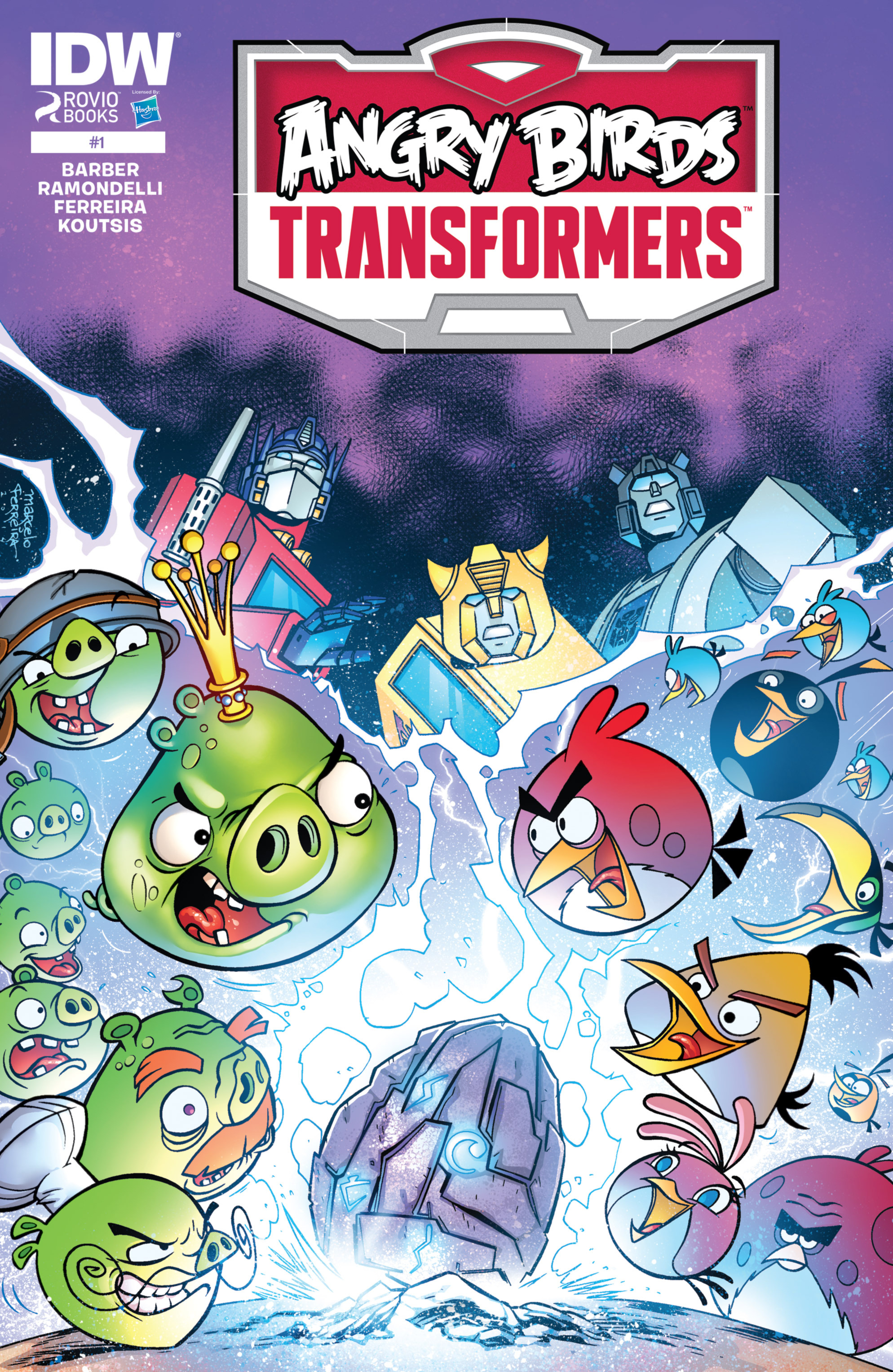 Read online Angry Birds Transformers comic -  Issue #1 - 1