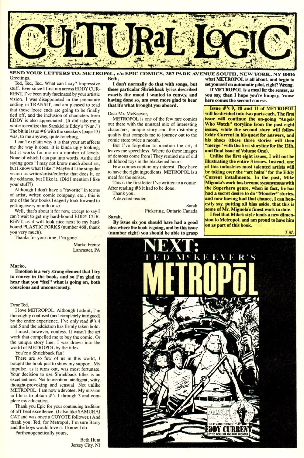 Read online Ted McKeever's Metropol comic -  Issue #8 - 31