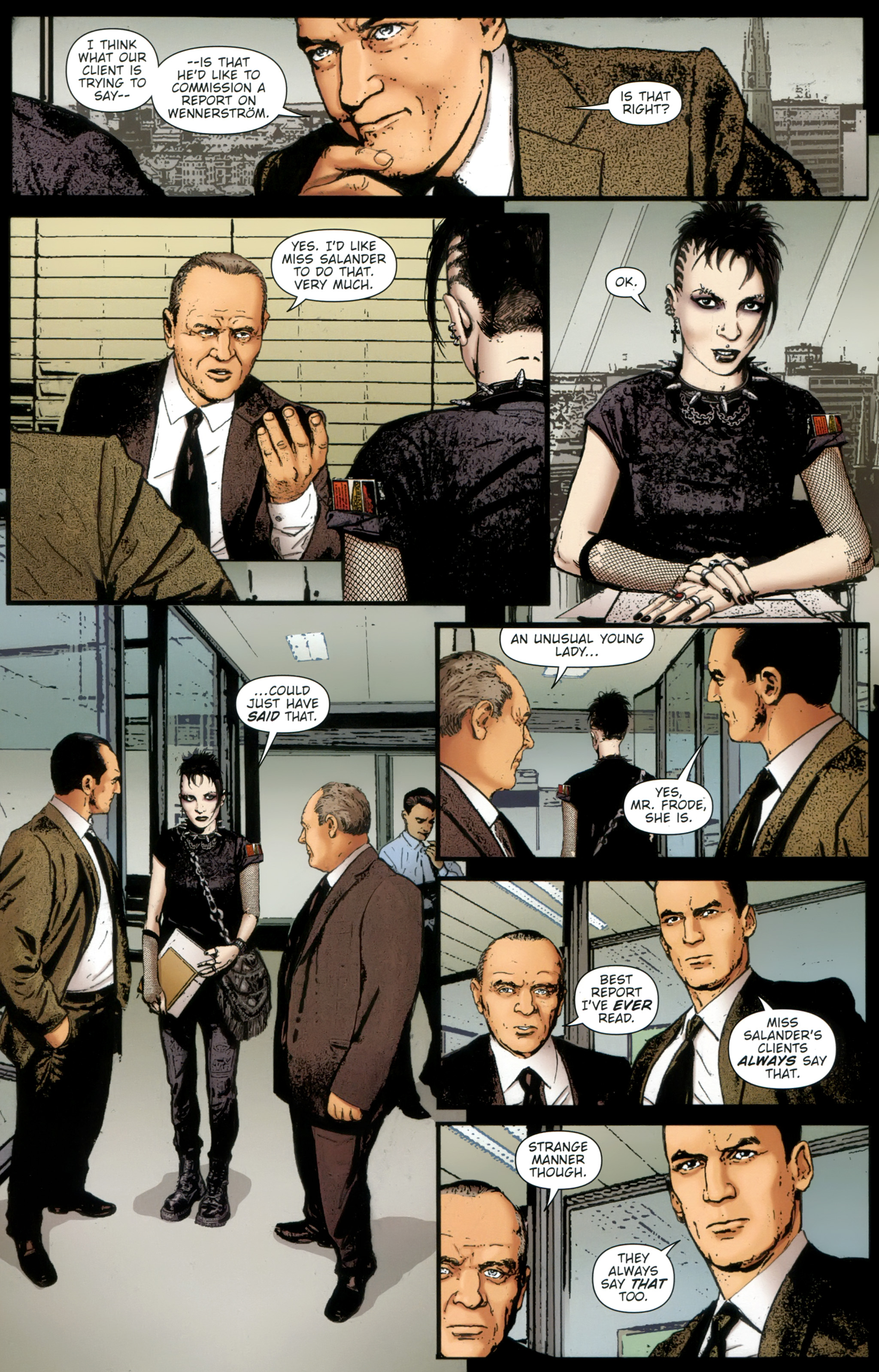 Read online The Girl With the Dragon Tattoo comic -  Issue # TPB 1 - 25