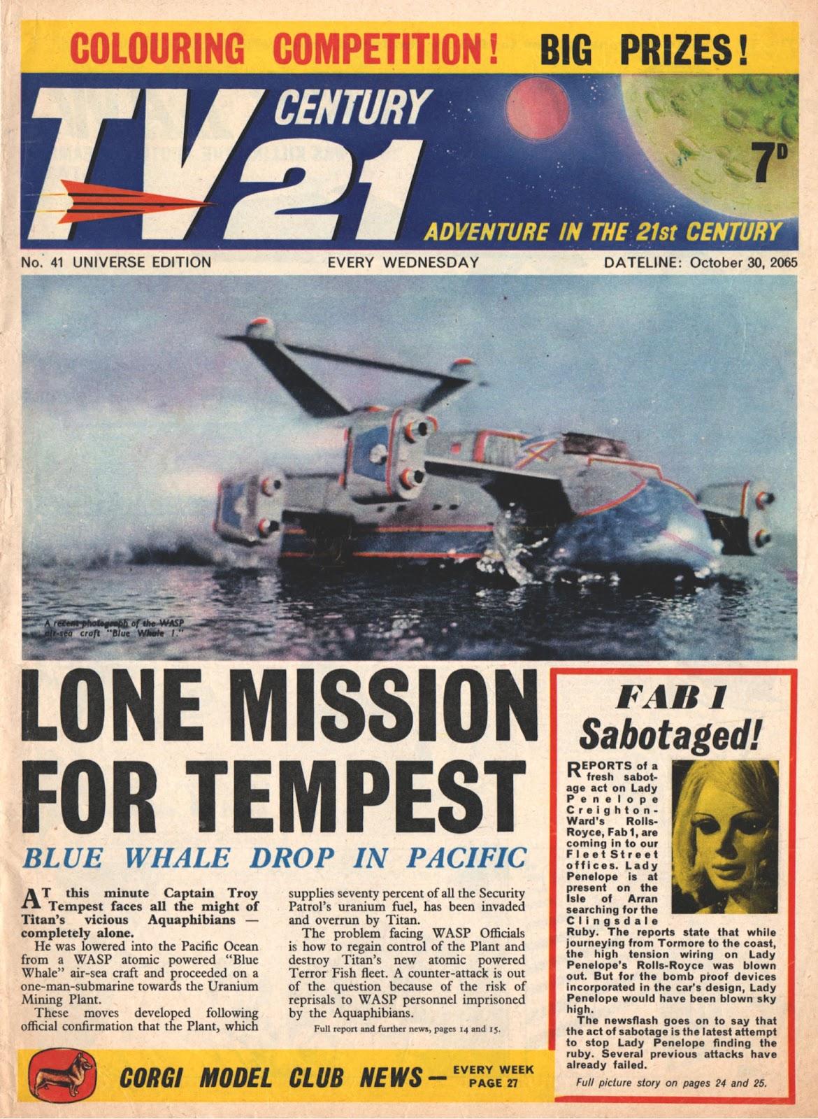 TV Century 21 (TV 21) issue 41 - Page 1