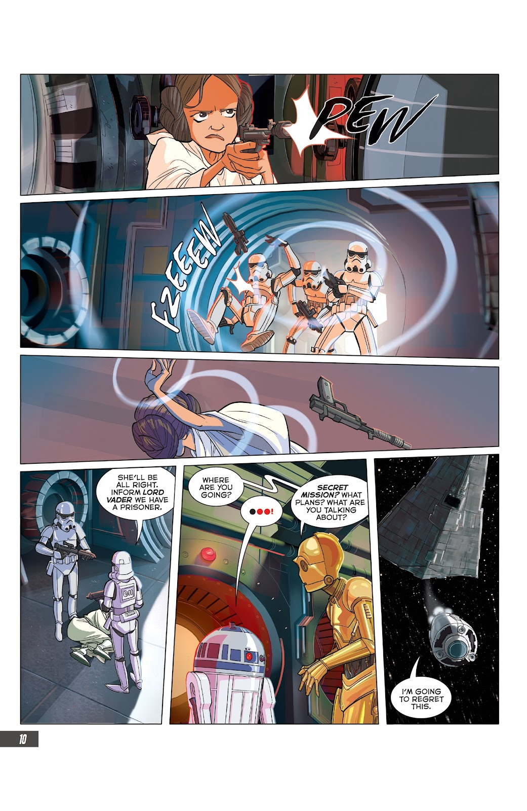 Read online Star Wars Adventures: Flight of the Falcon comic -  Issue # Full - 34