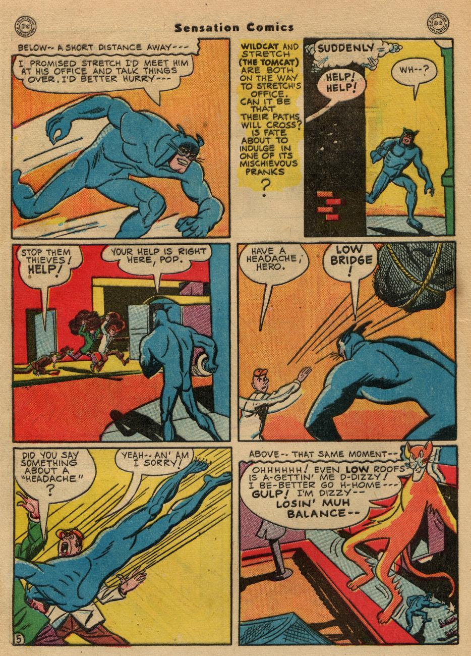Read online Sensation (Mystery) Comics comic -  Issue #49 - 46