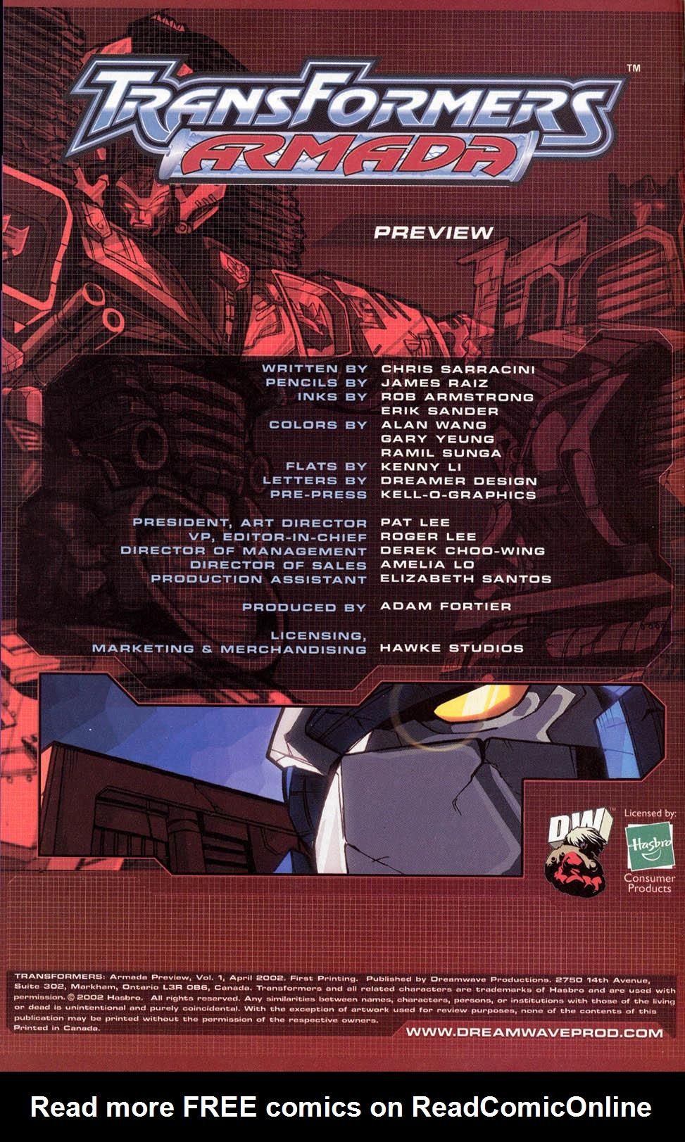 Read online Transformers Armada comic -  Issue #0 - 1