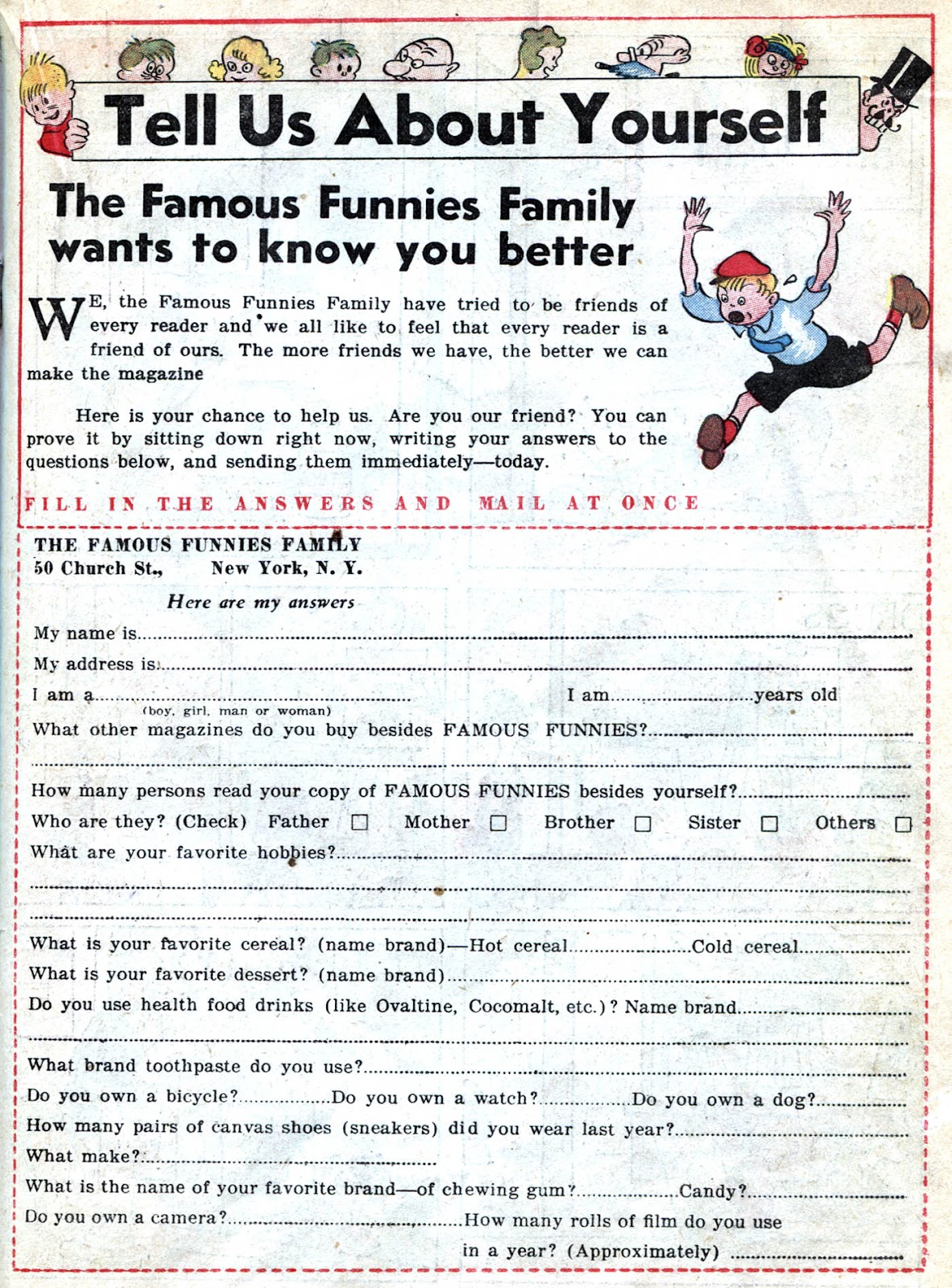 Read online Famous Funnies comic -  Issue #32 - 35