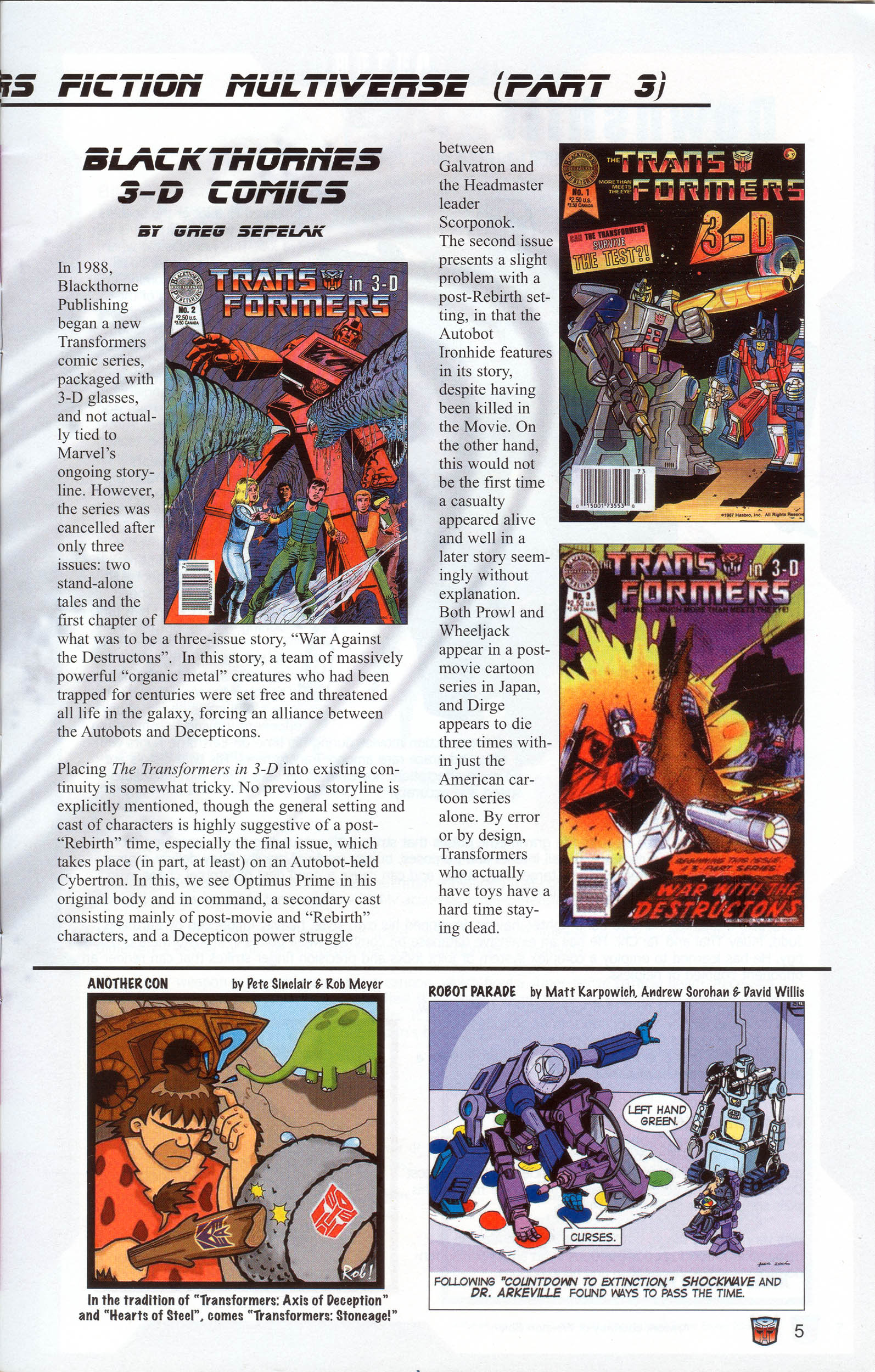 Read online Transformers: Collectors' Club comic -  Issue #10 - 5