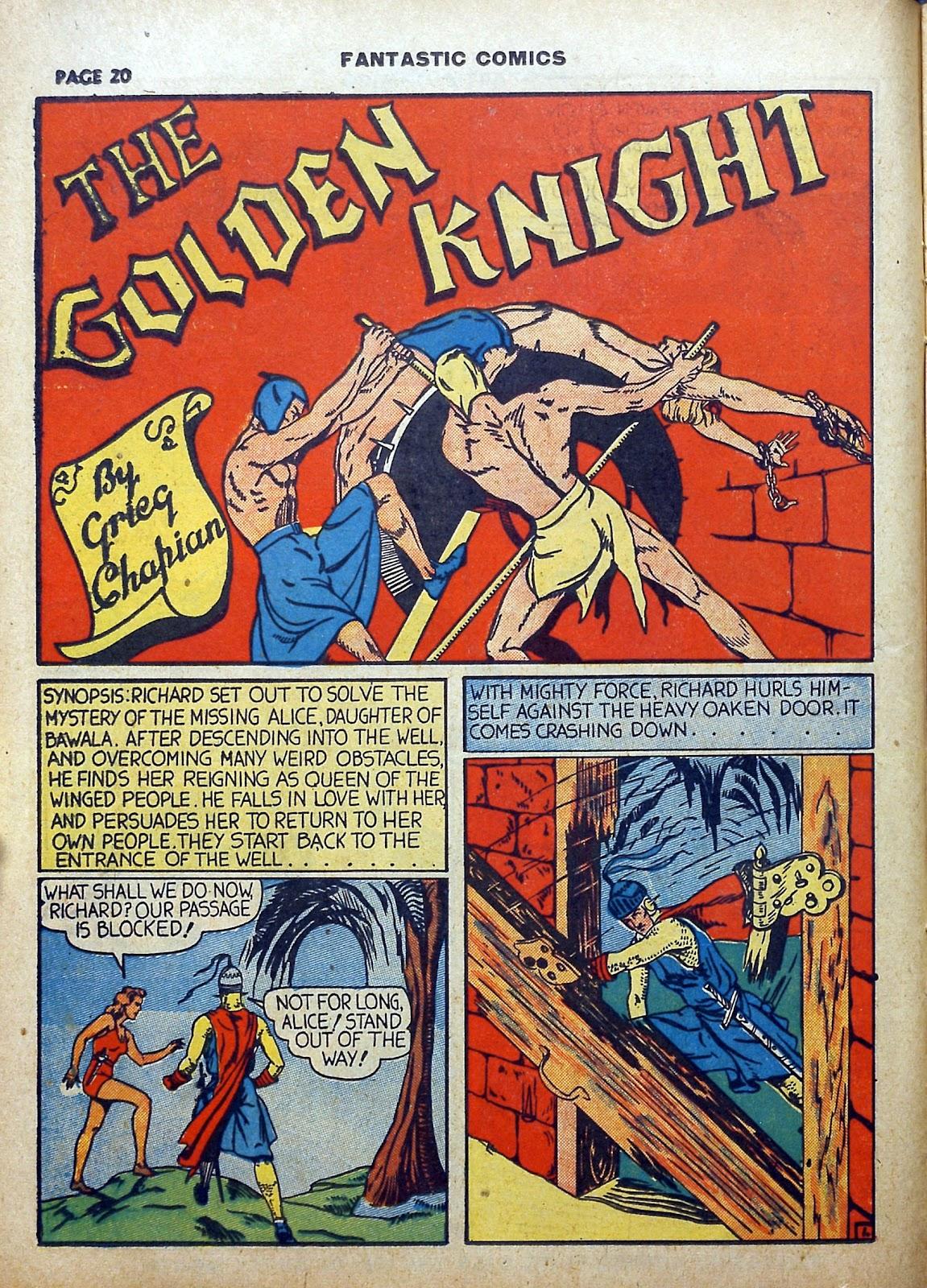 Read online Fantastic Comics comic -  Issue #5 - 21