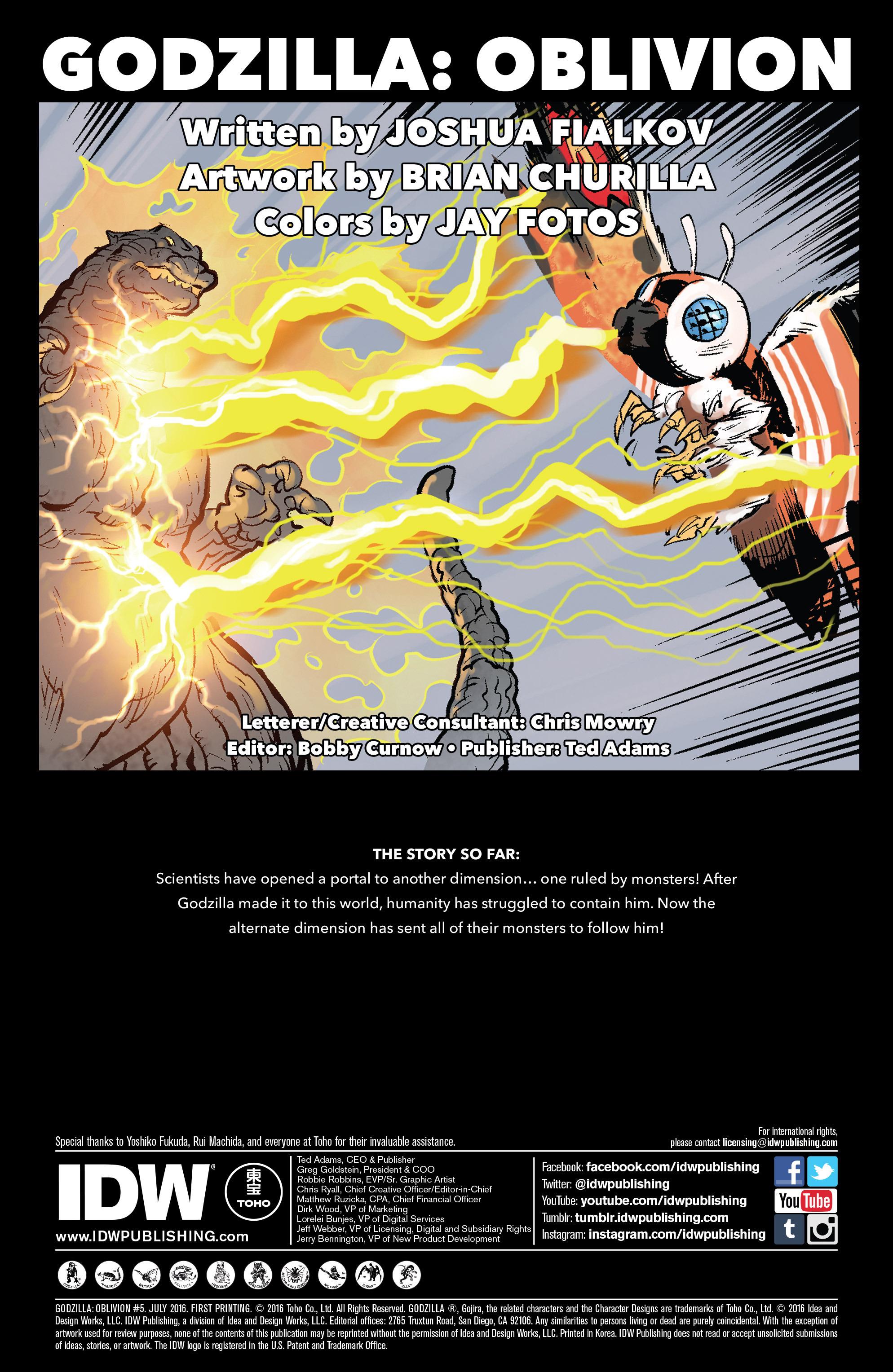 Godzilla Oblivion Issue 5 | Viewcomic reading comics online