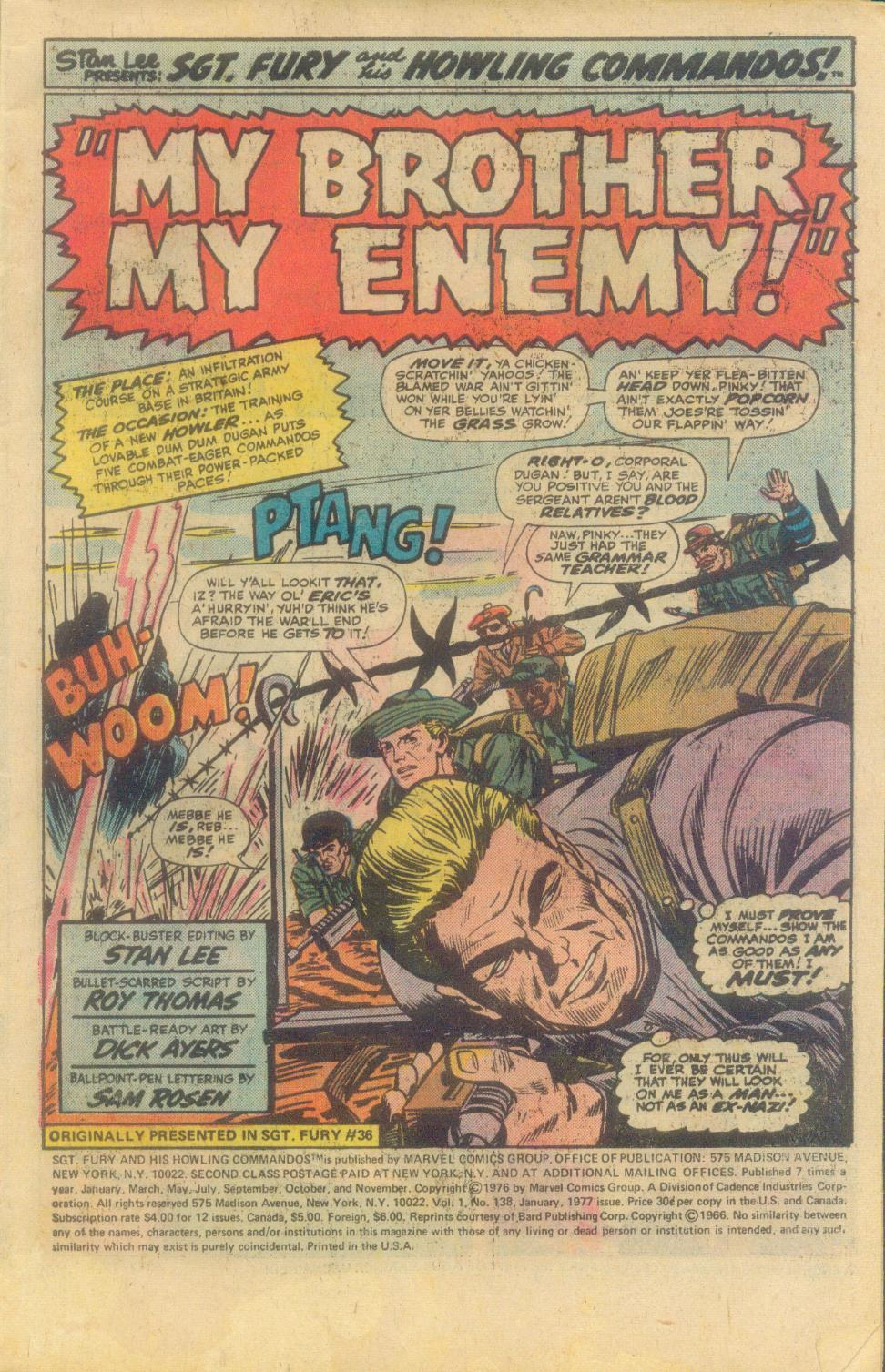 Read online Sgt. Fury comic -  Issue #138 - 3