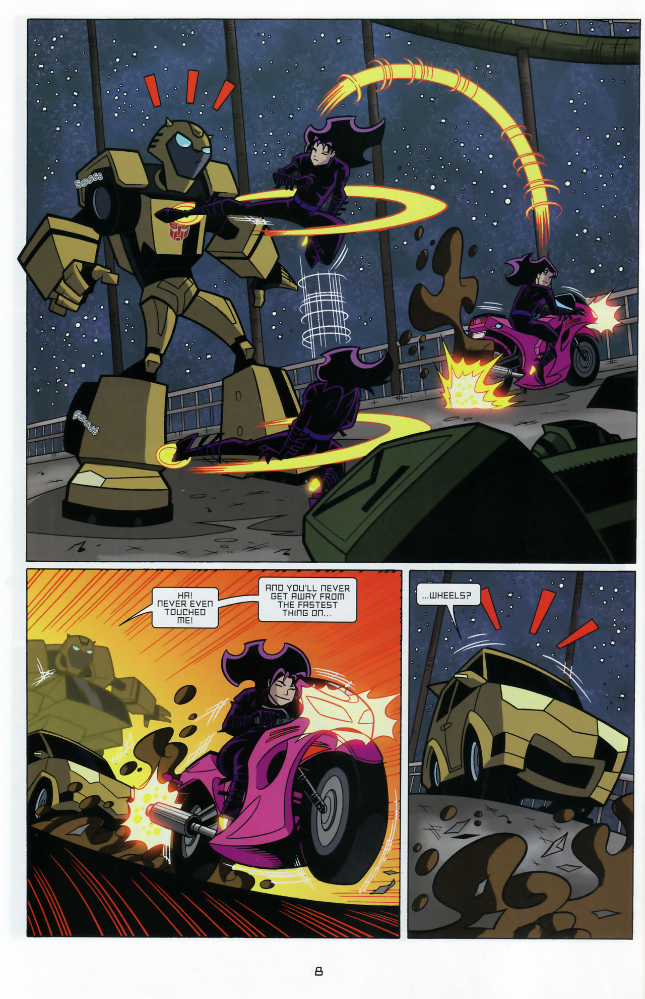 Read online Transformers Animated: The Arrival comic -  Issue #3 - 10