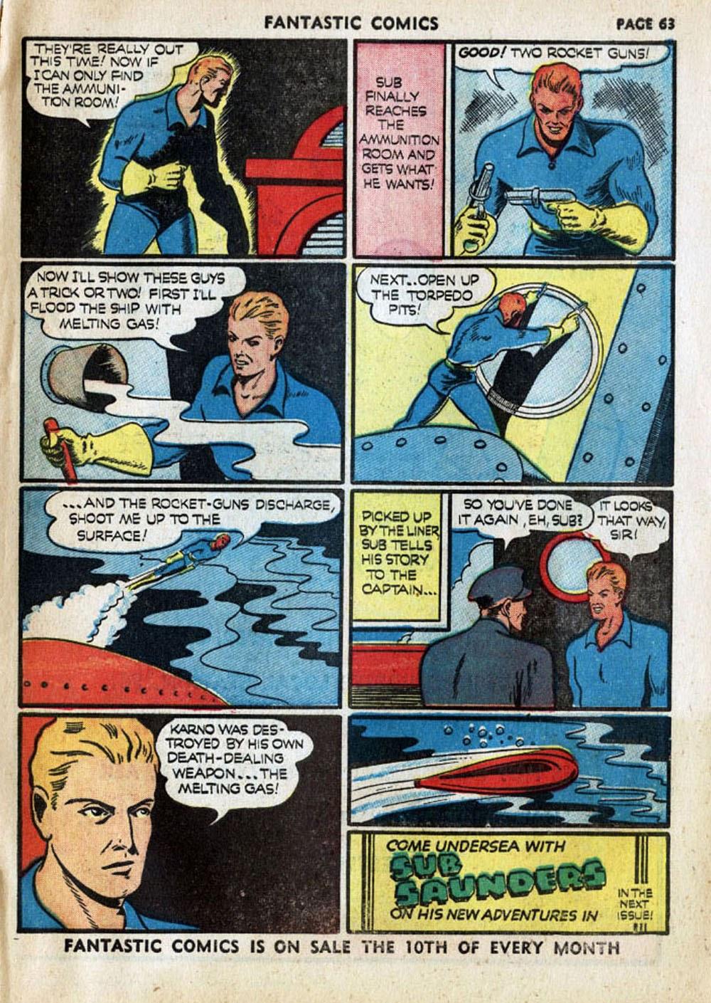 Read online Fantastic Comics comic -  Issue #17 - 64