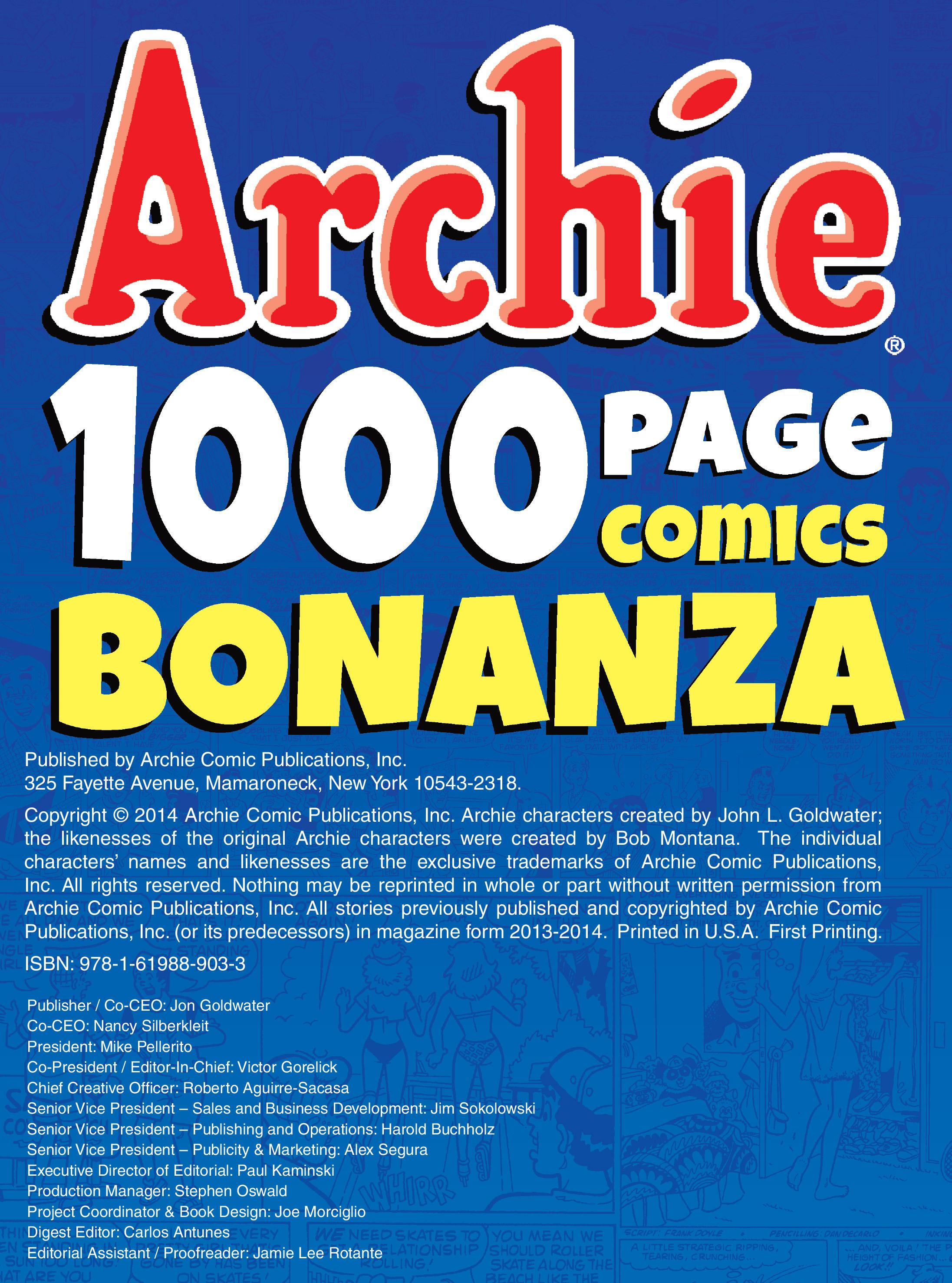Read online Archie 1000 Page Comics Bonanza comic -  Issue #1 (Part 1) - 2