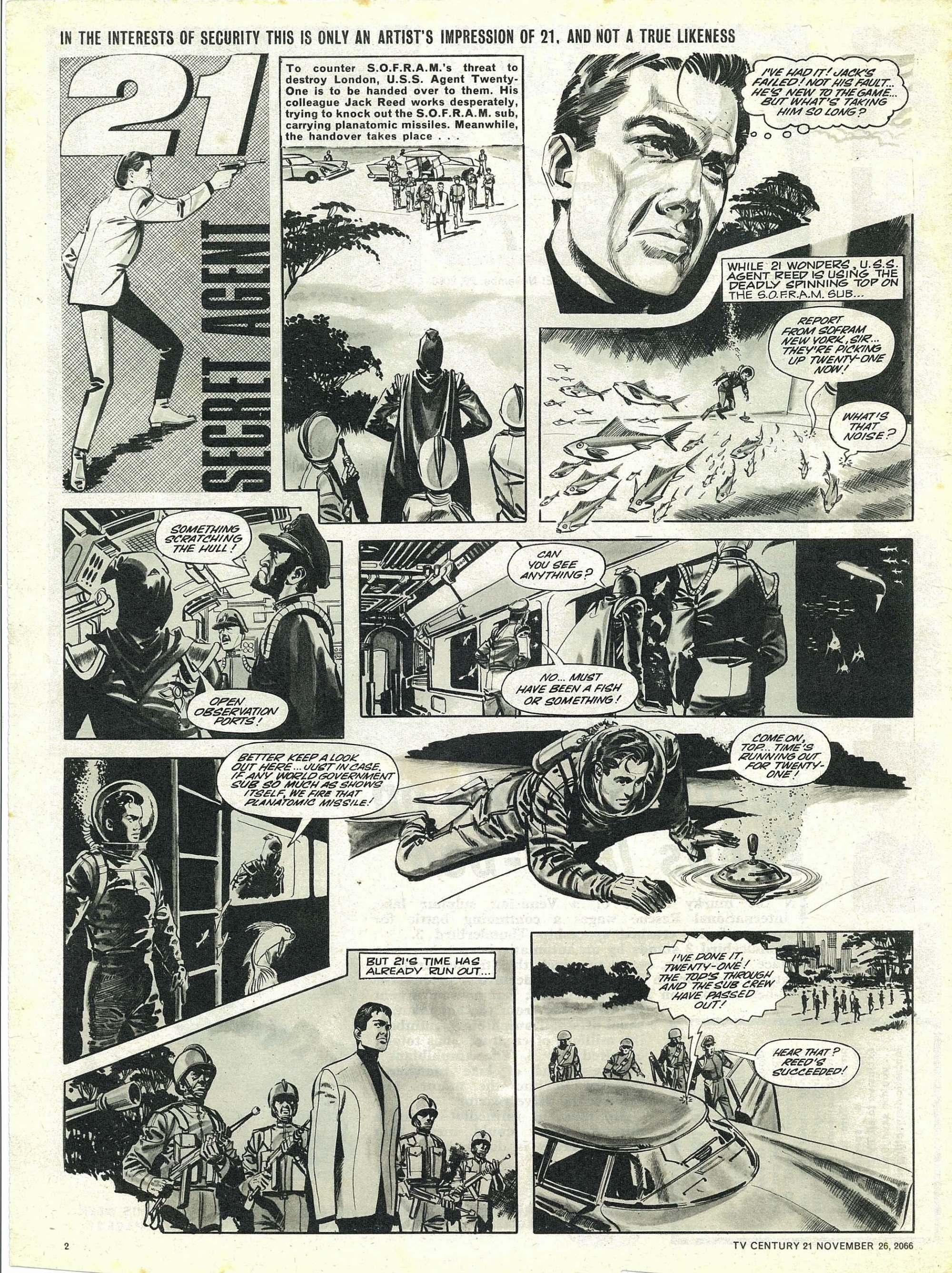 Read online TV Century 21 (TV 21) comic -  Issue #97 - 2