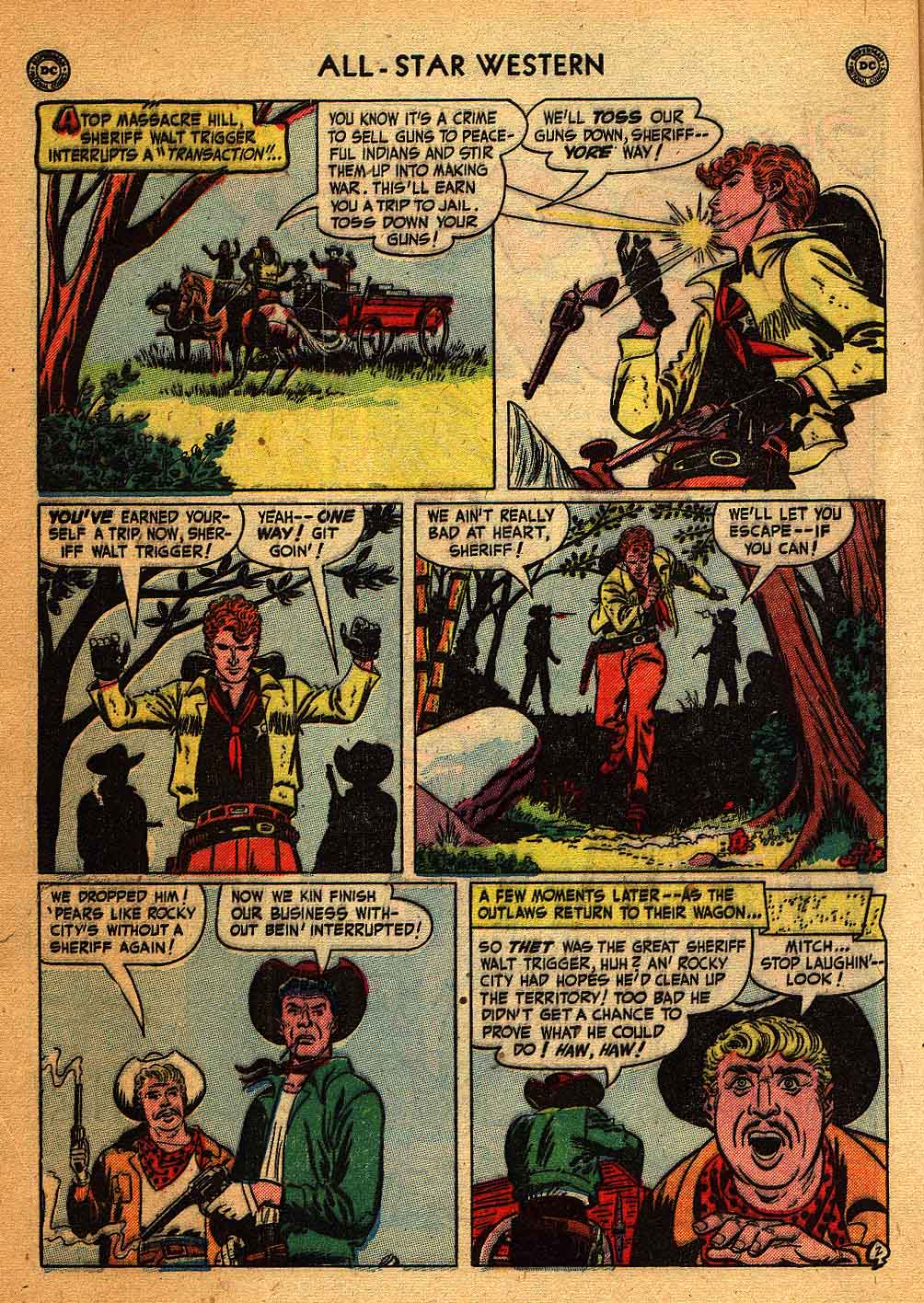Read online All-Star Western (1951) comic -  Issue #58 - 4