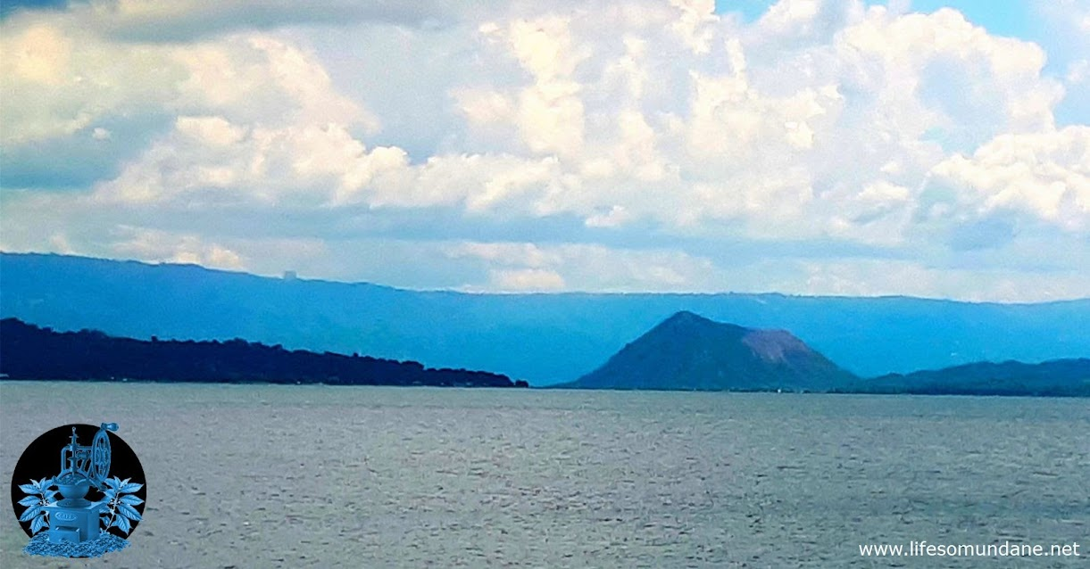 Taal Volcano see from the wharf in San Nicolas, Batangas. Image source:  Life so Mundane in Batangas.