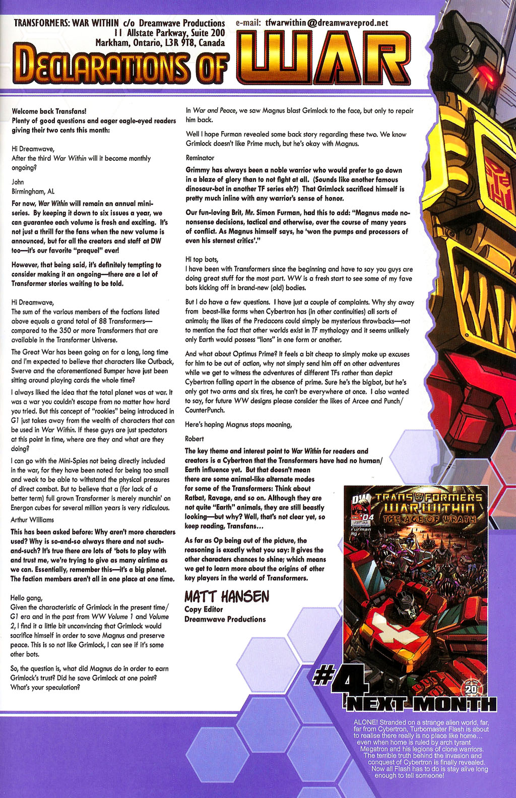 """Read online Transformers War Within: """"The Age of Wrath"""" comic -  Issue #3 - 23"""