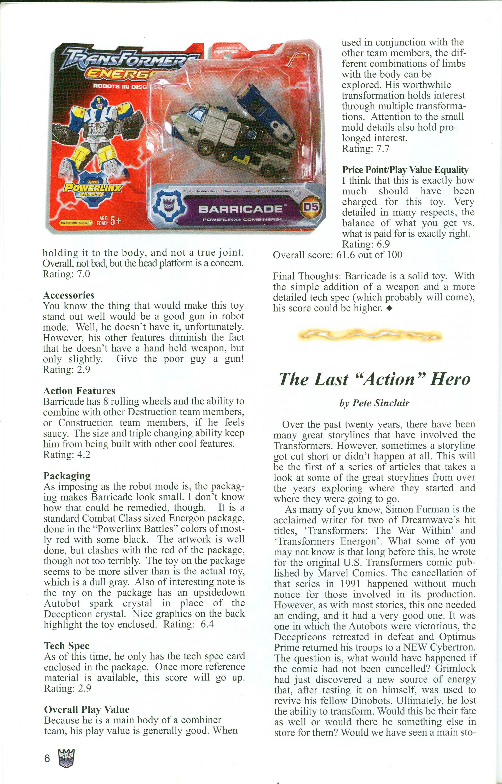 Read online Transformers: Collectors' Club comic -  Issue #1 - 6