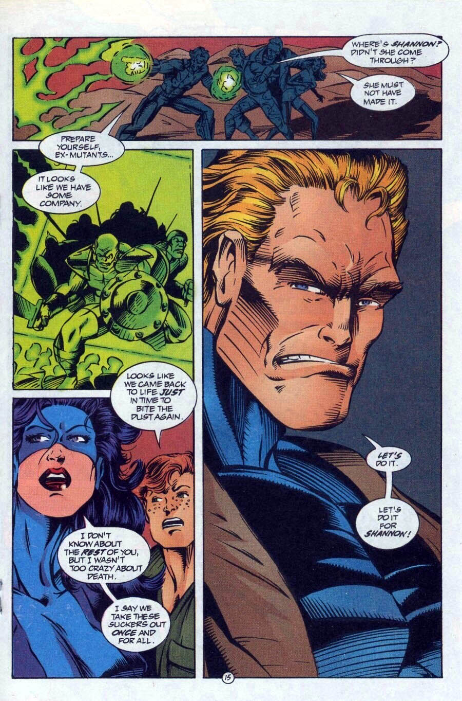 Read online Ex-Mutants comic -  Issue #17 - 16