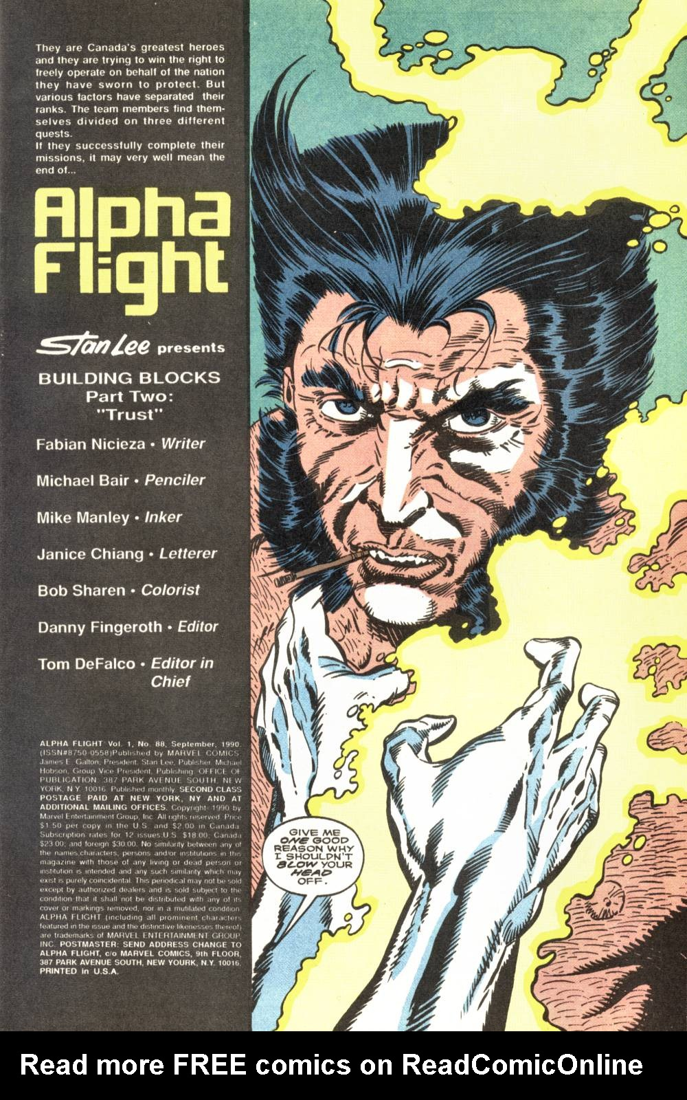 Read online Alpha Flight (1983) comic -  Issue #88 - 2