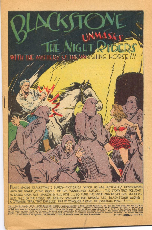 Read online Super-Magician Comics comic -  Issue #44 - 3